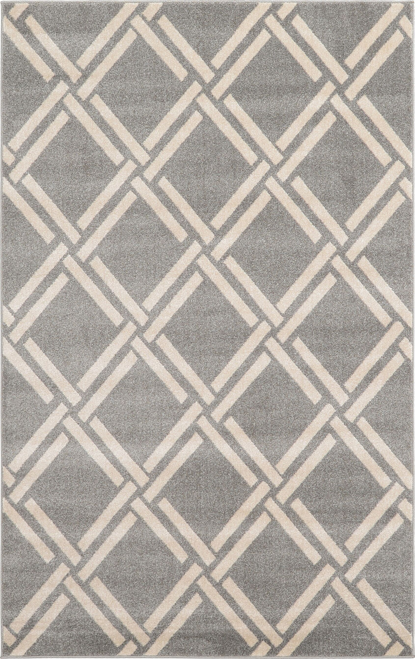 Storyvale Gray Area Rug Rug Size: Rectangle 5' x 8'