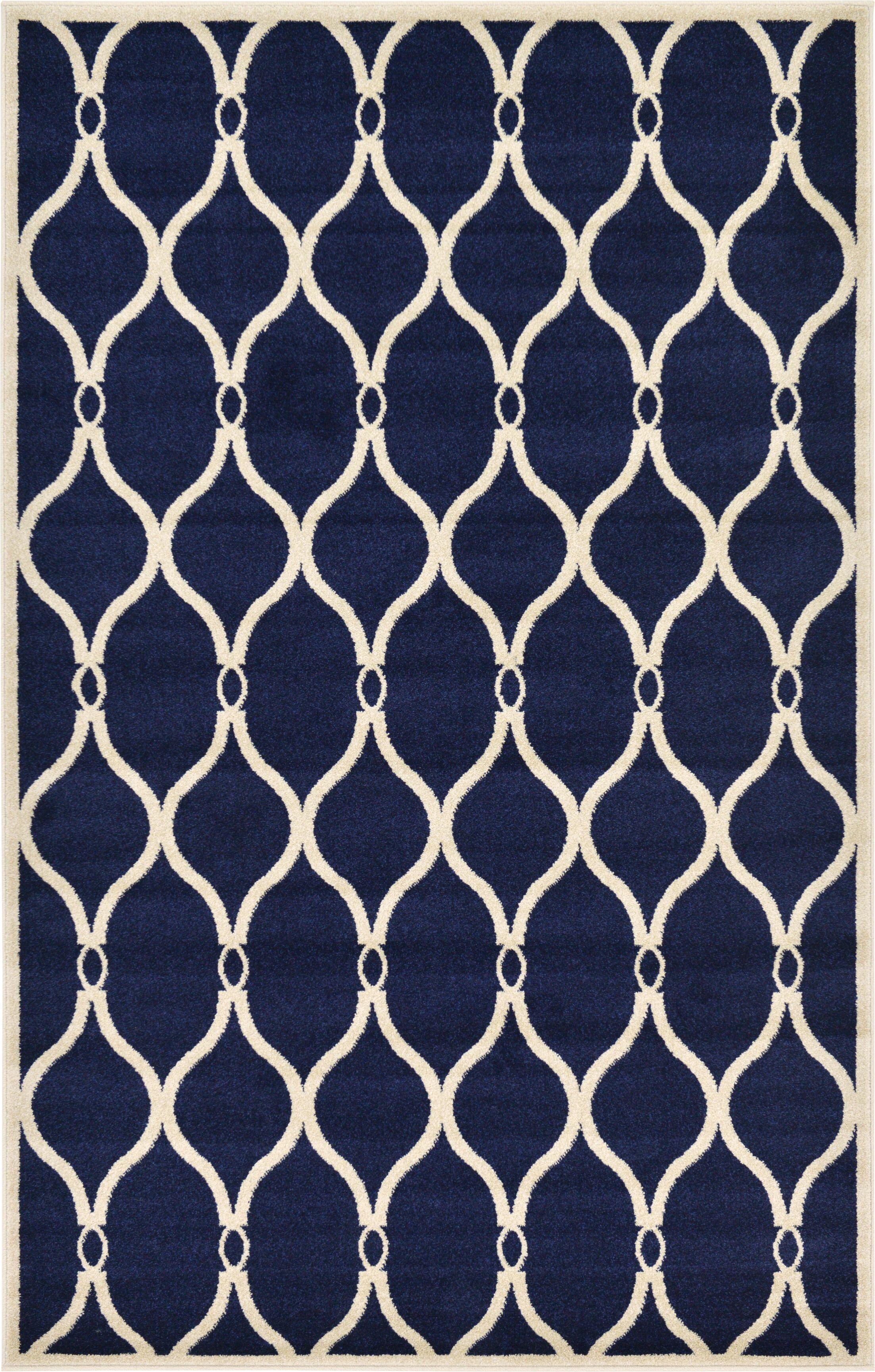 Molly Navy Blue Area Rug Rug Size: Rectangle 5' x 8'