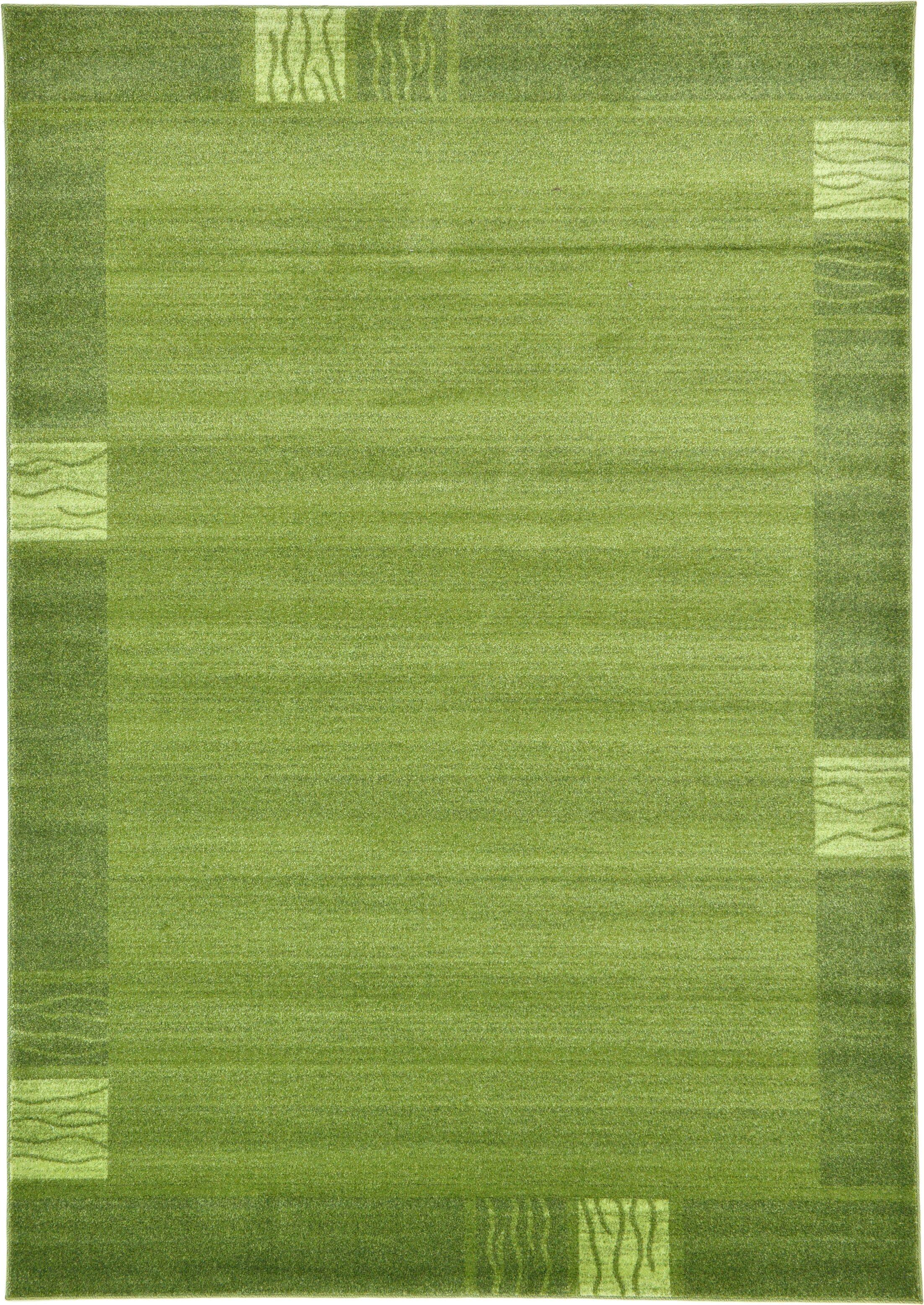 Christi Green Color Bordered Area Rug Rug Size: Rectangle 7' x 10'