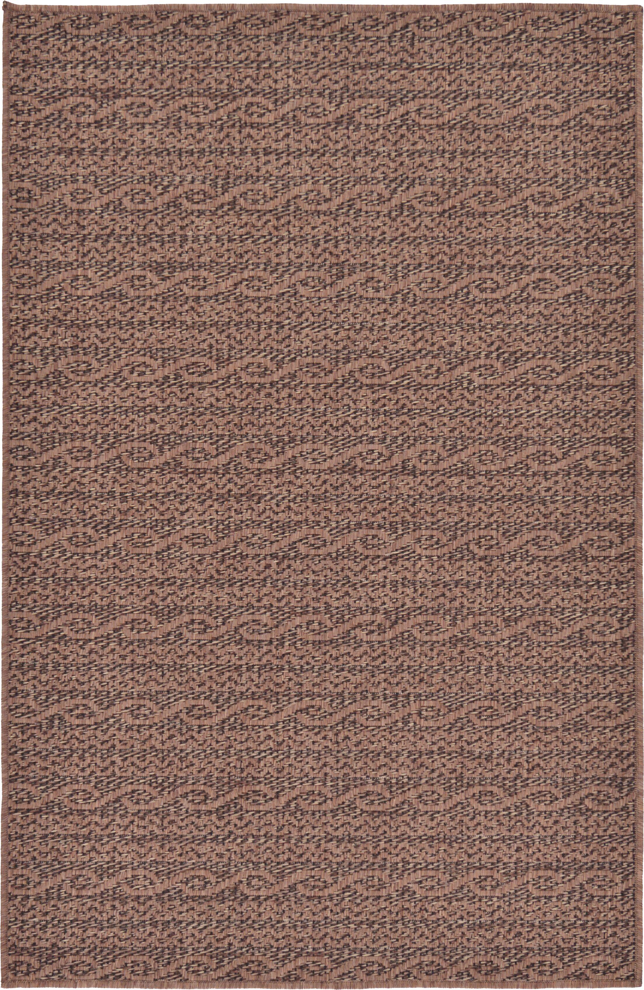 Robbinston Brown Outdoor Area Rug Rug Size: Rectangle 3'3