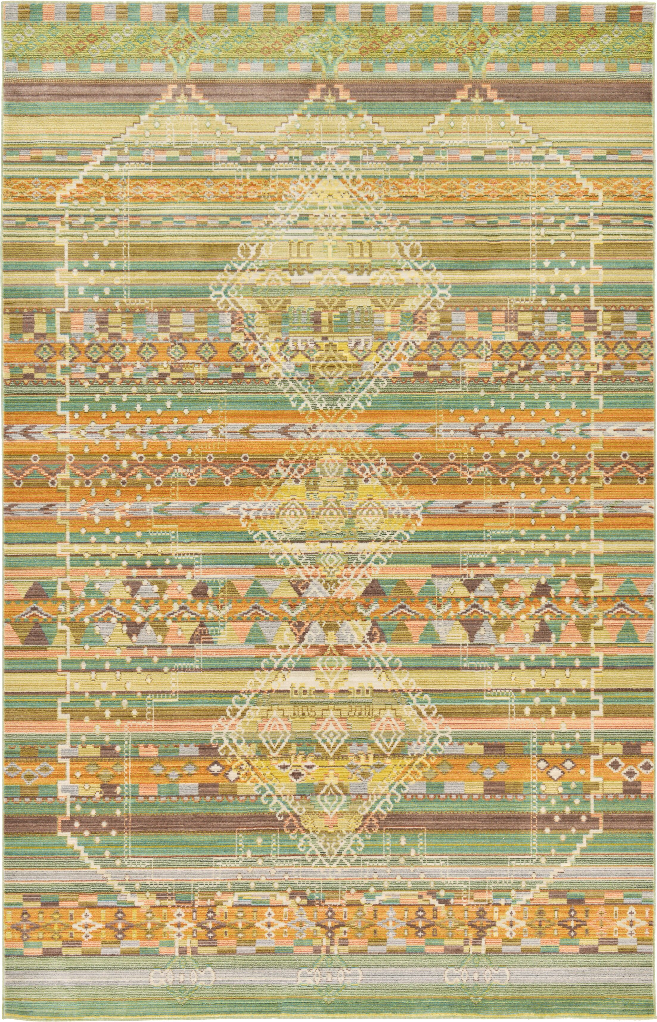 Rune Green Area Rug Rug Size: Rectangle 8' x 10'