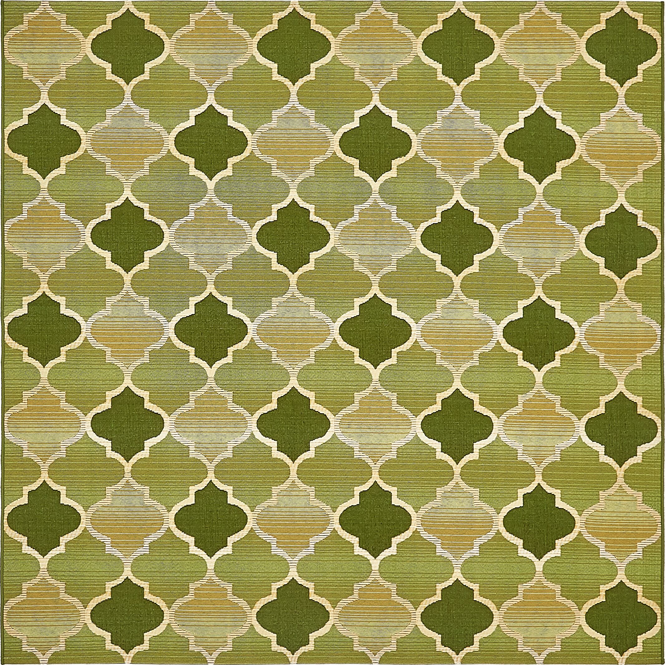 Alice Green Indoor/Outdoor Area Rug Rug Size: Square 6'