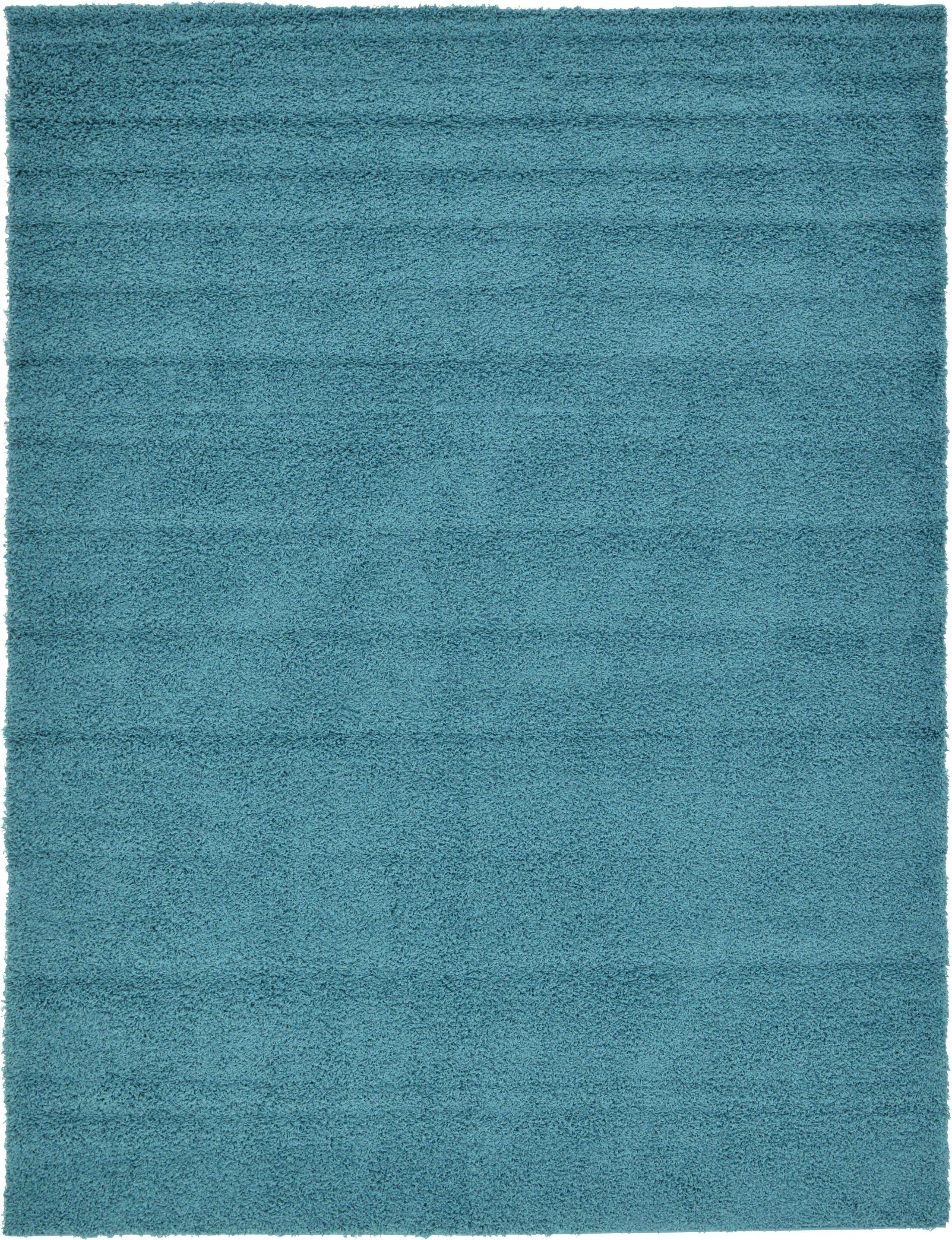 Lilah Teal Blue Area Rug Rug Size: Rectangle 9' x 12'