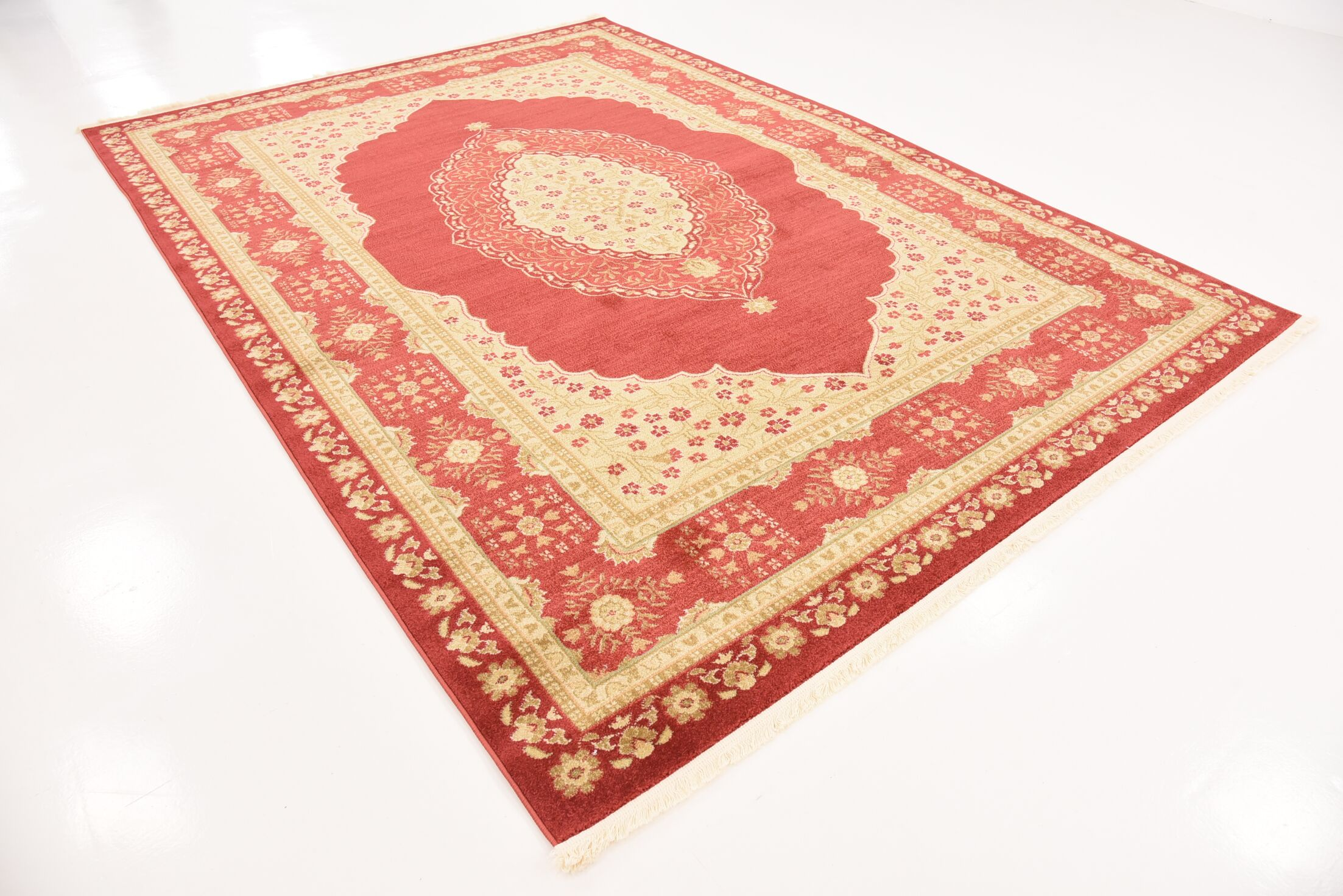 Fonciere Red Area Rug Rug Size: Rectangle 7' x 10'