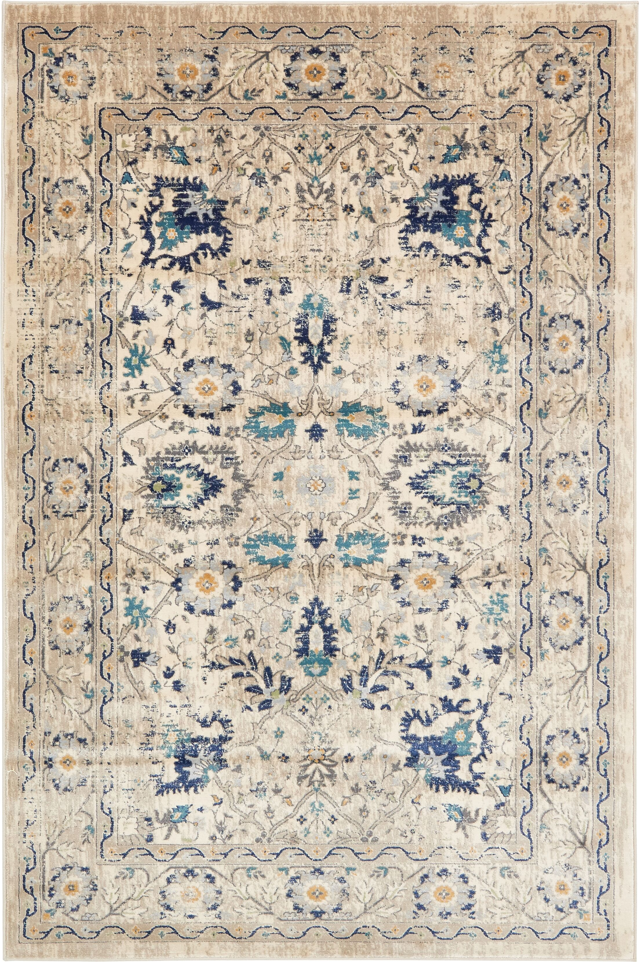 Geleen Beige Area Rug Rug Size: Rectangle 6' x 9'