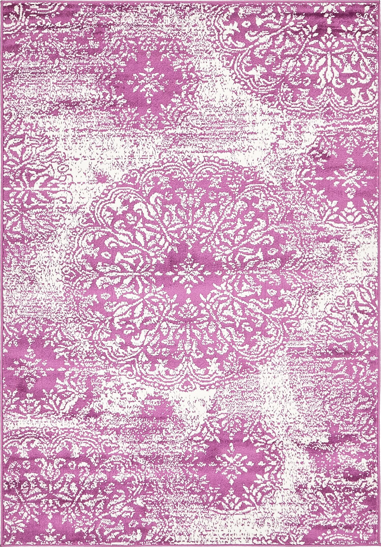 Brandt Purple Area Rug Rug Size: Rectangle 7' x 10'