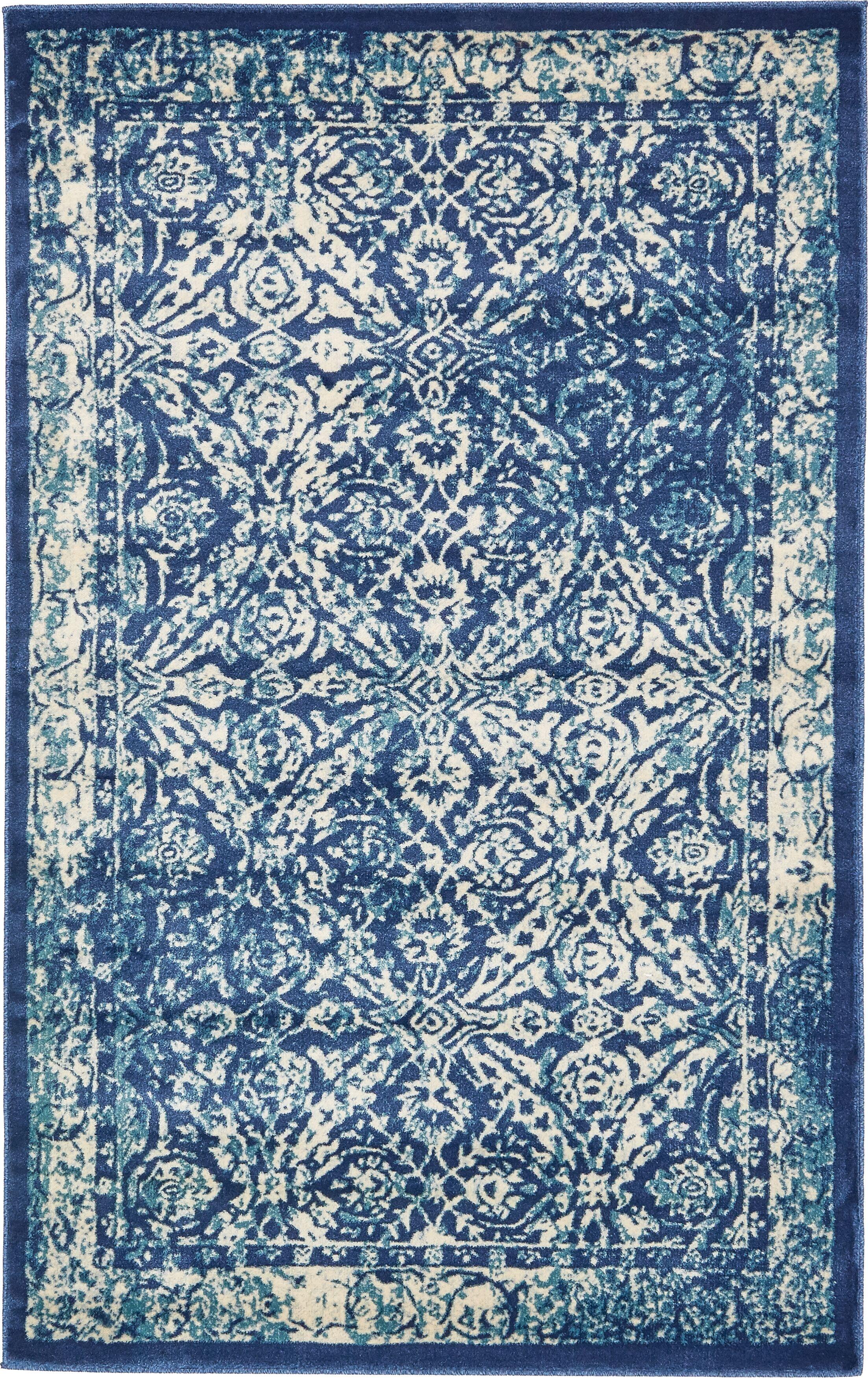 Jae Blue Indoor Area Rug Rug Size: Rectangle 5' x 8'