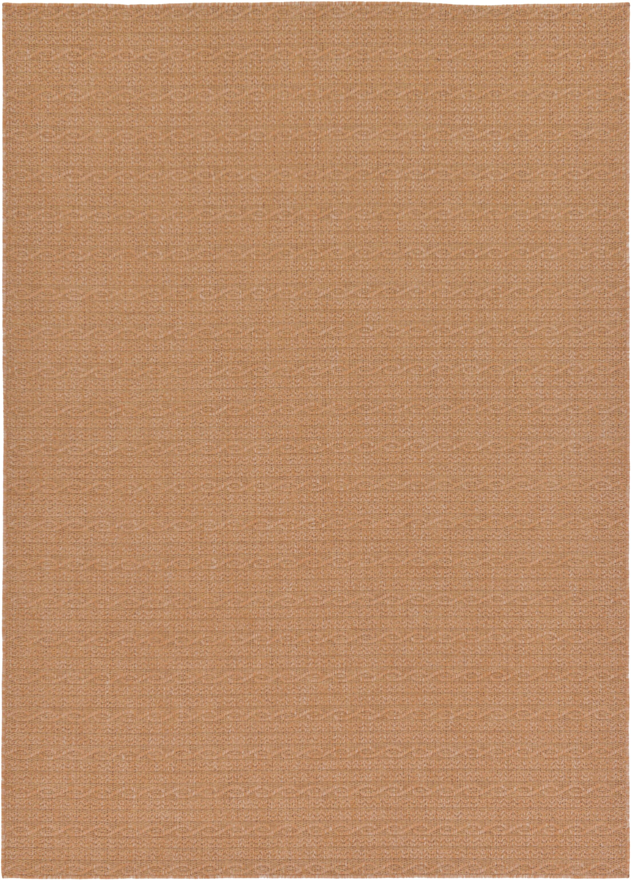 Dresden Light Brown Outdoor Area Rug Rug Size: Rectangle 7' x 10'