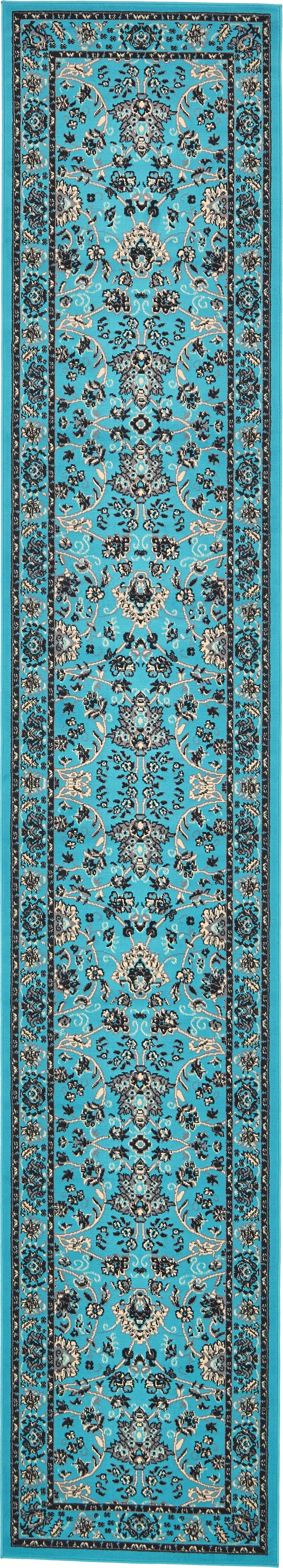 Southern Turquoise Area Rug Rug Size: Runner 3' x 16'5
