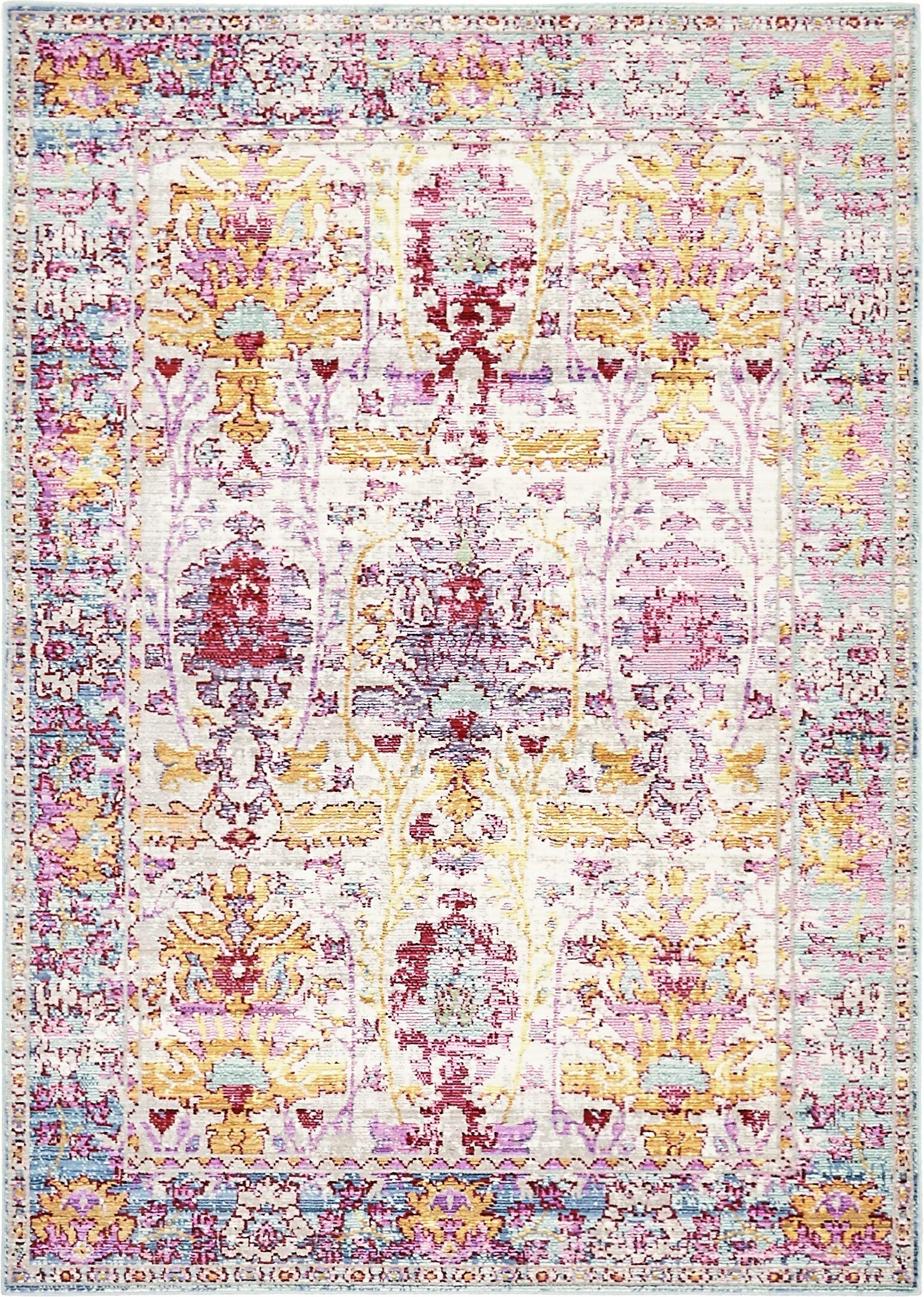 Carrico Burgundy Area Rug Rug Size: Rectangle 4' x 6'