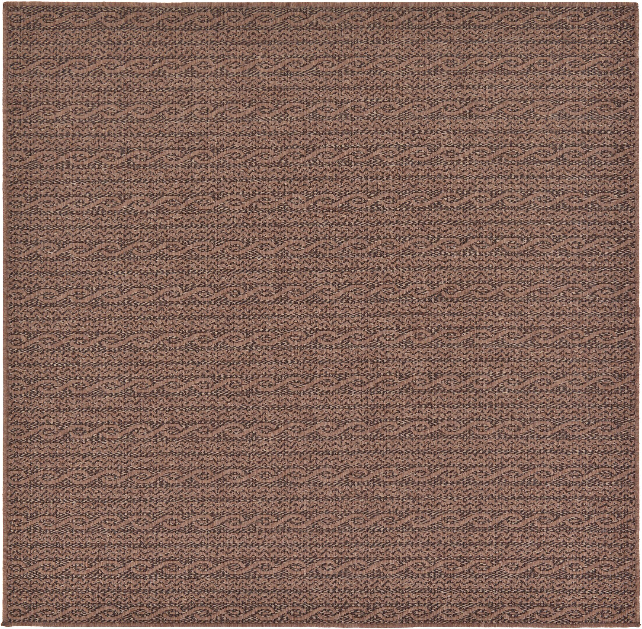 Robbinston Brown Outdoor Area Rug Rug Size: Square 6'