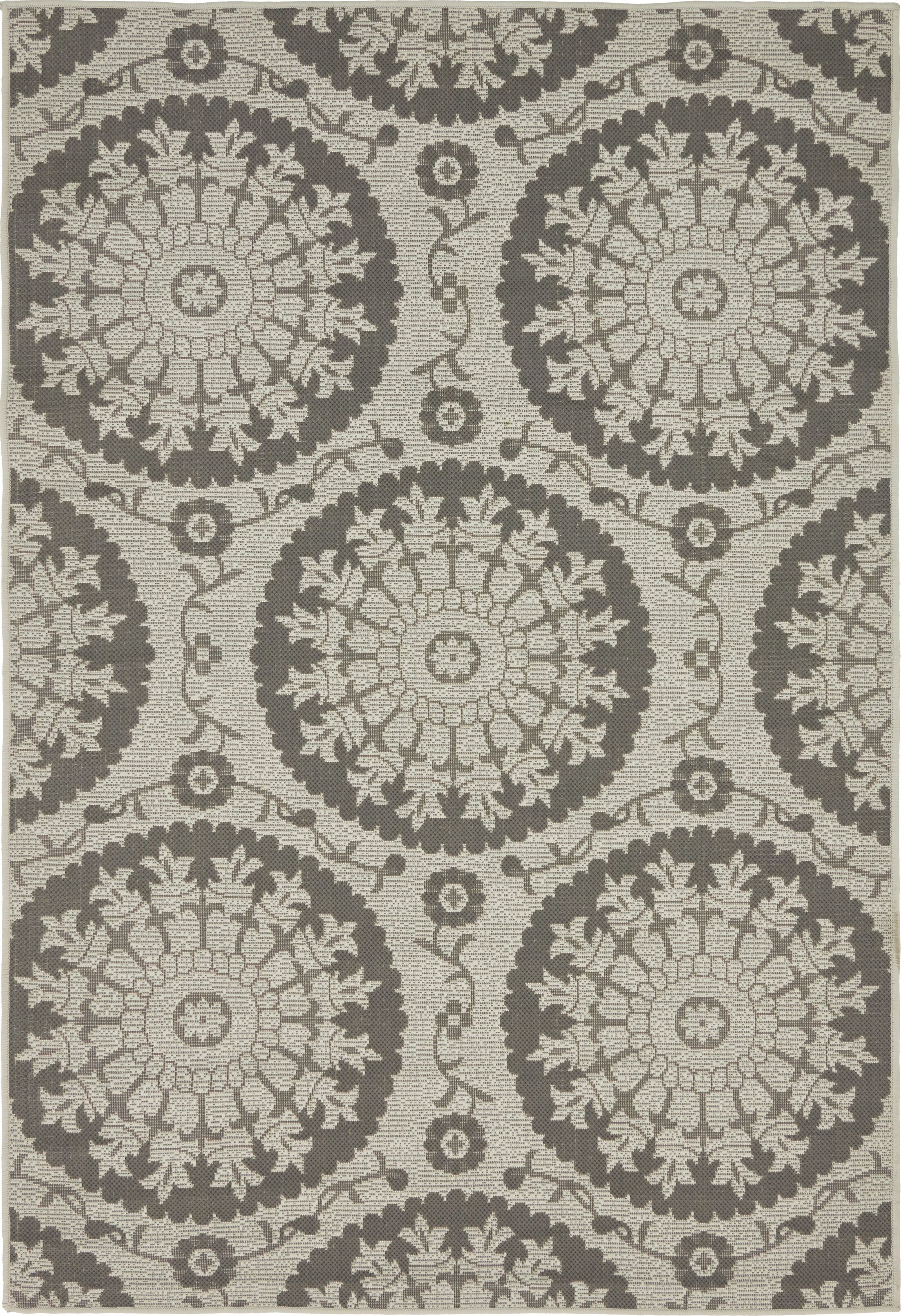 Forbes Gray Outdoor Area Rug Rug Size: Rectangle 4' x 6'