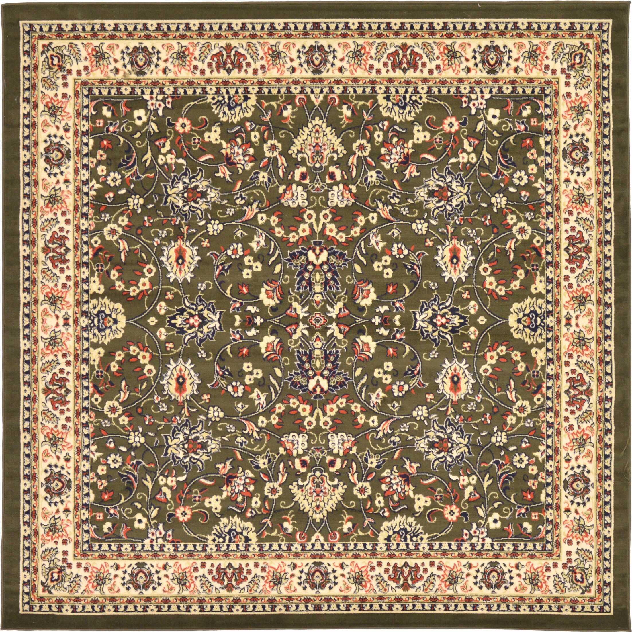 Essehoul Green Area Rug Rug Size: Square 8'