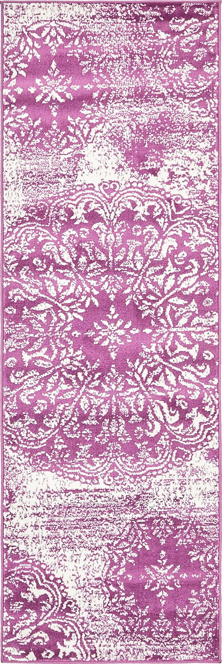 Brandt Purple Area Rug Rug Size: Runner 3'3