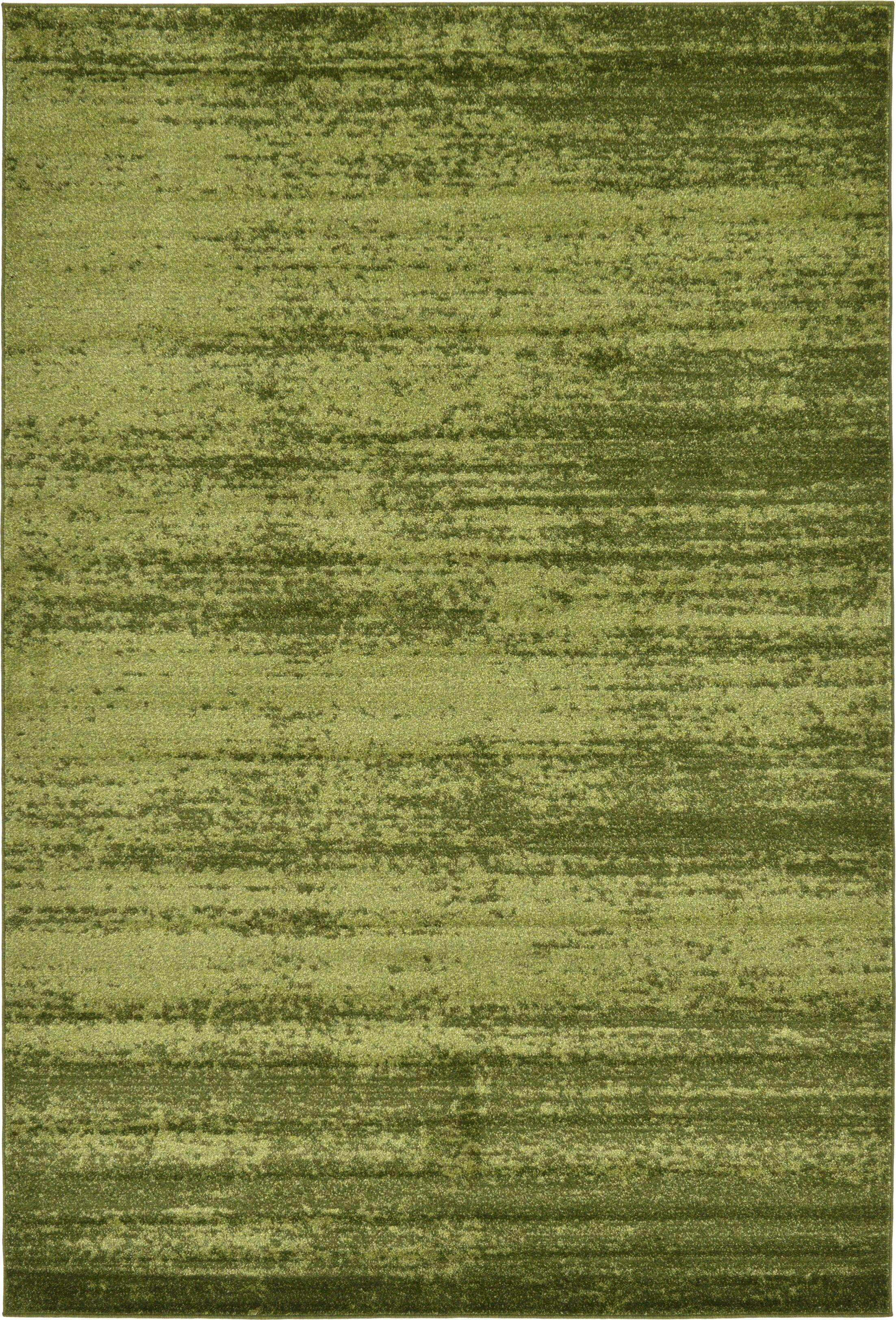 Barhorst Green Area Rug Rug Size: Rectangle 6' x 9'