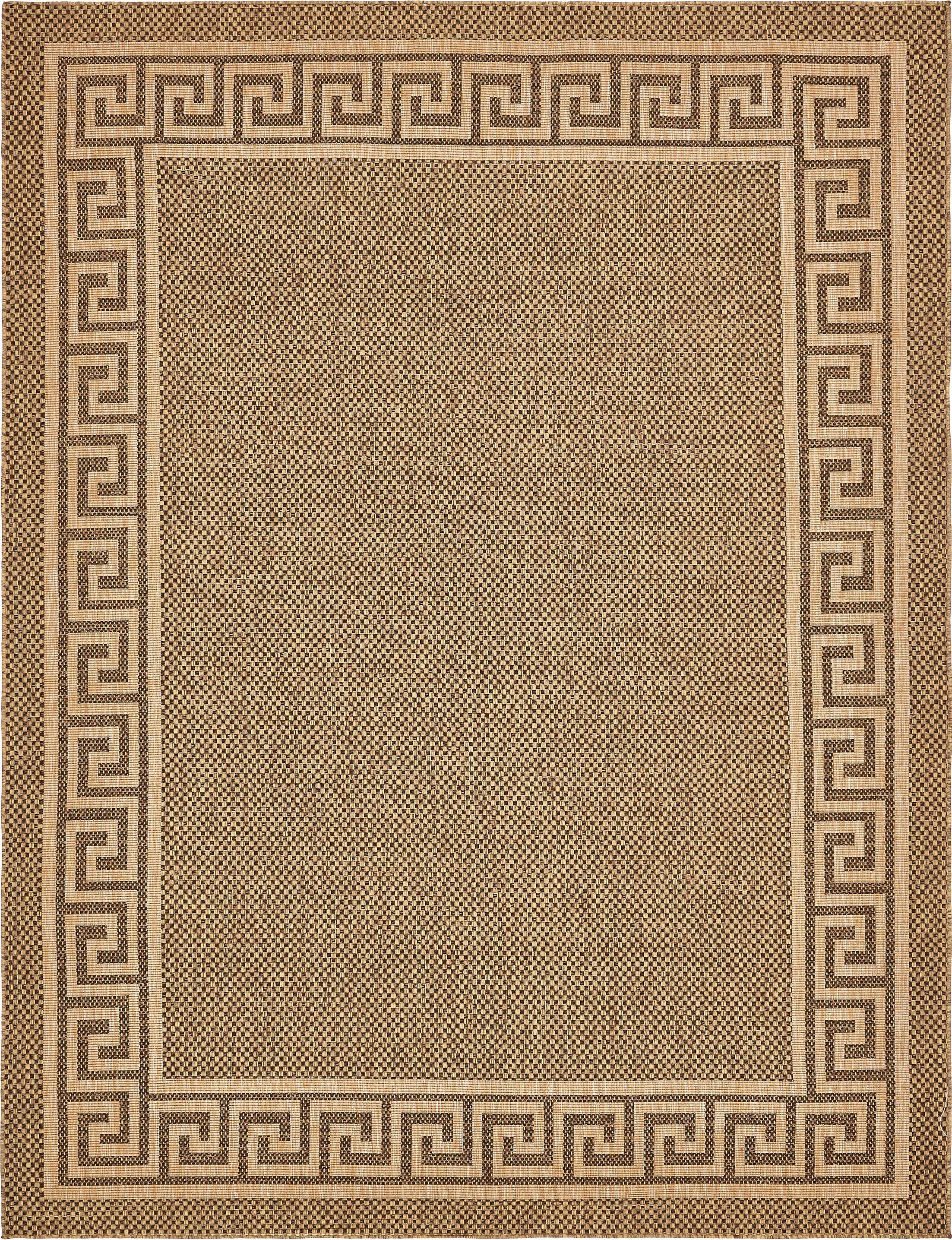 Flint Brown Outdoor Area Rug Rug Size: Rectangle 9' x 12'