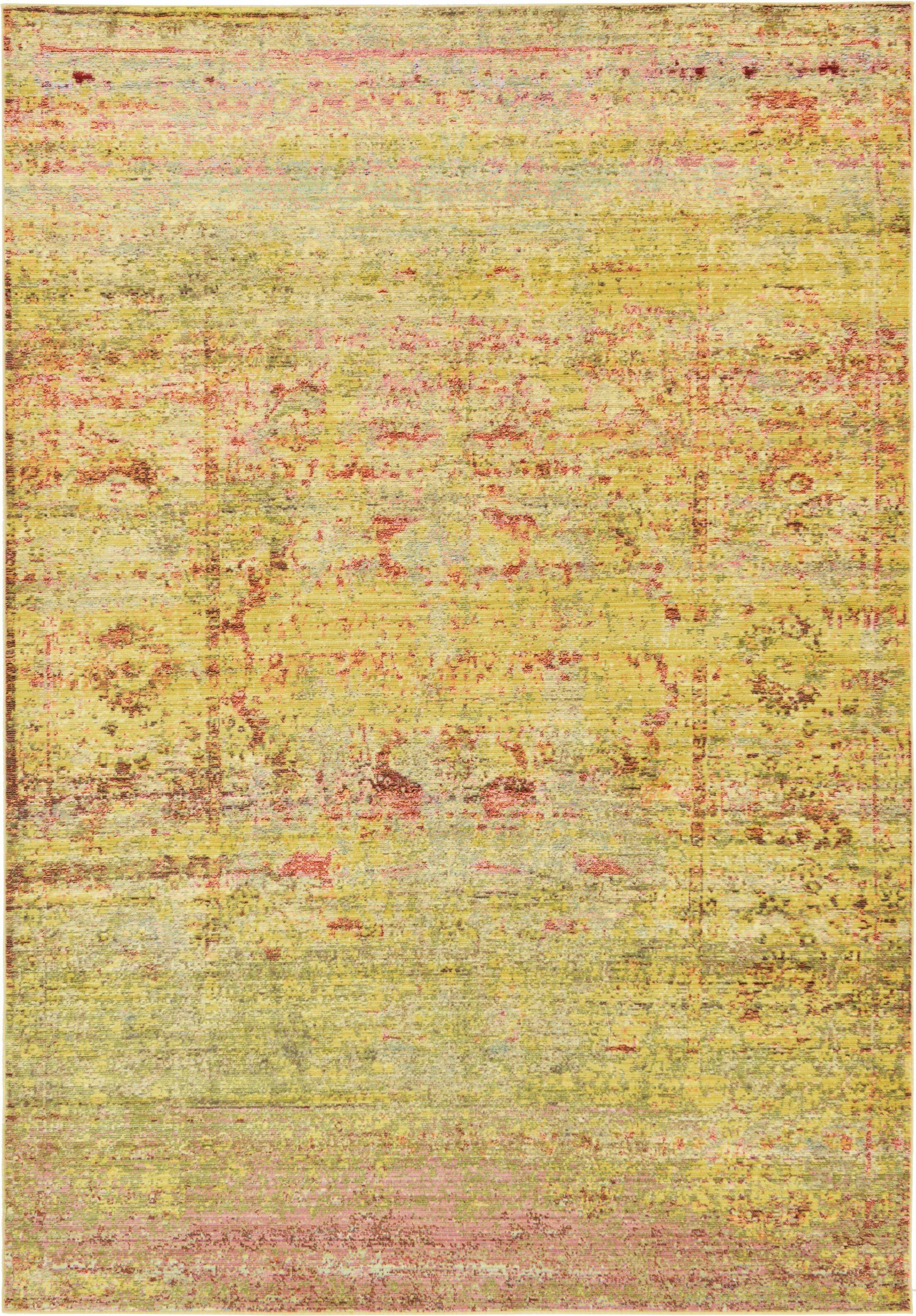 Danbury Yellow Area Rug Rug Size: Rectangle 6' x 9'