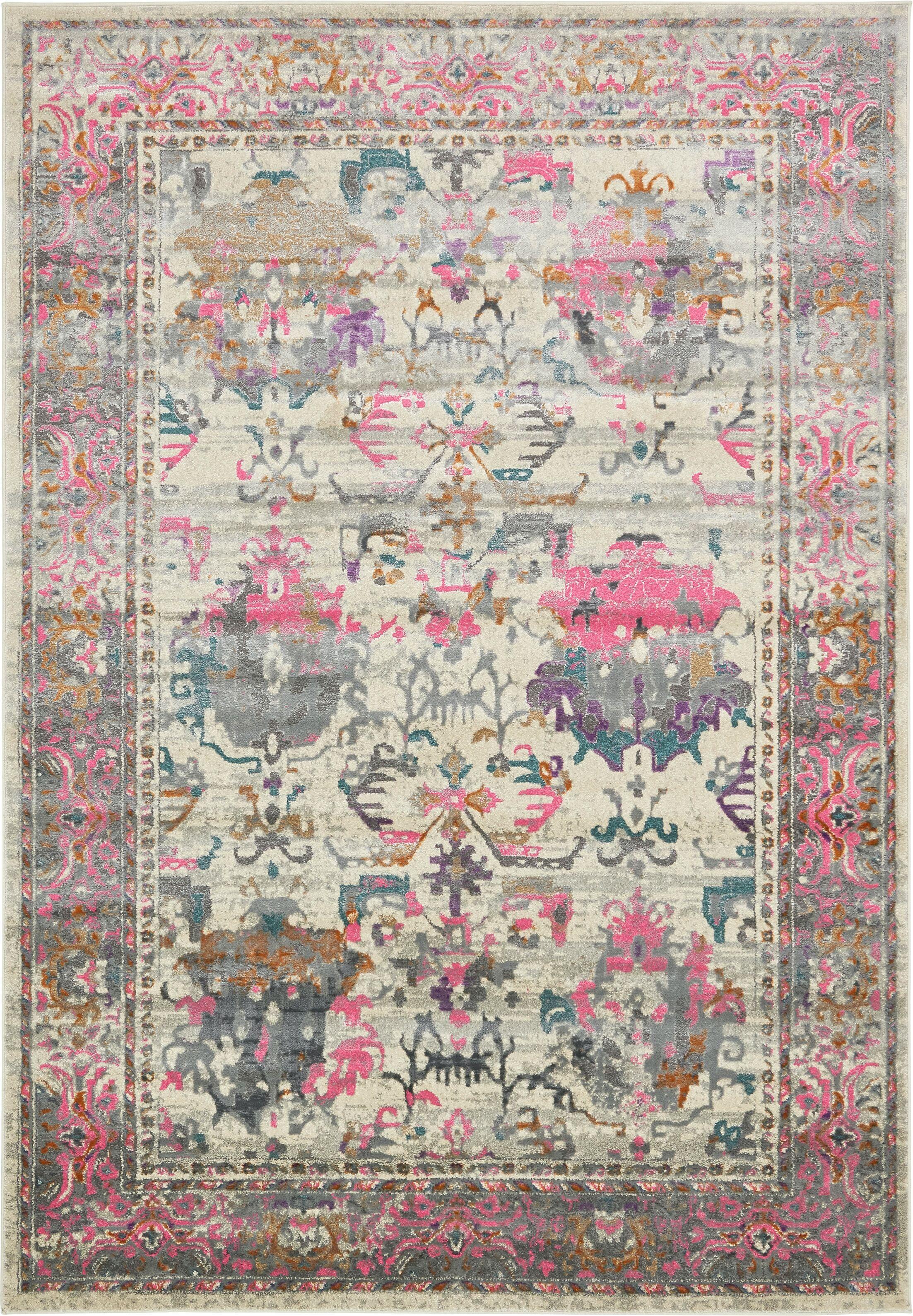 Charlena Pink Area Rug Rug Size: Rectangle 10' x 7'