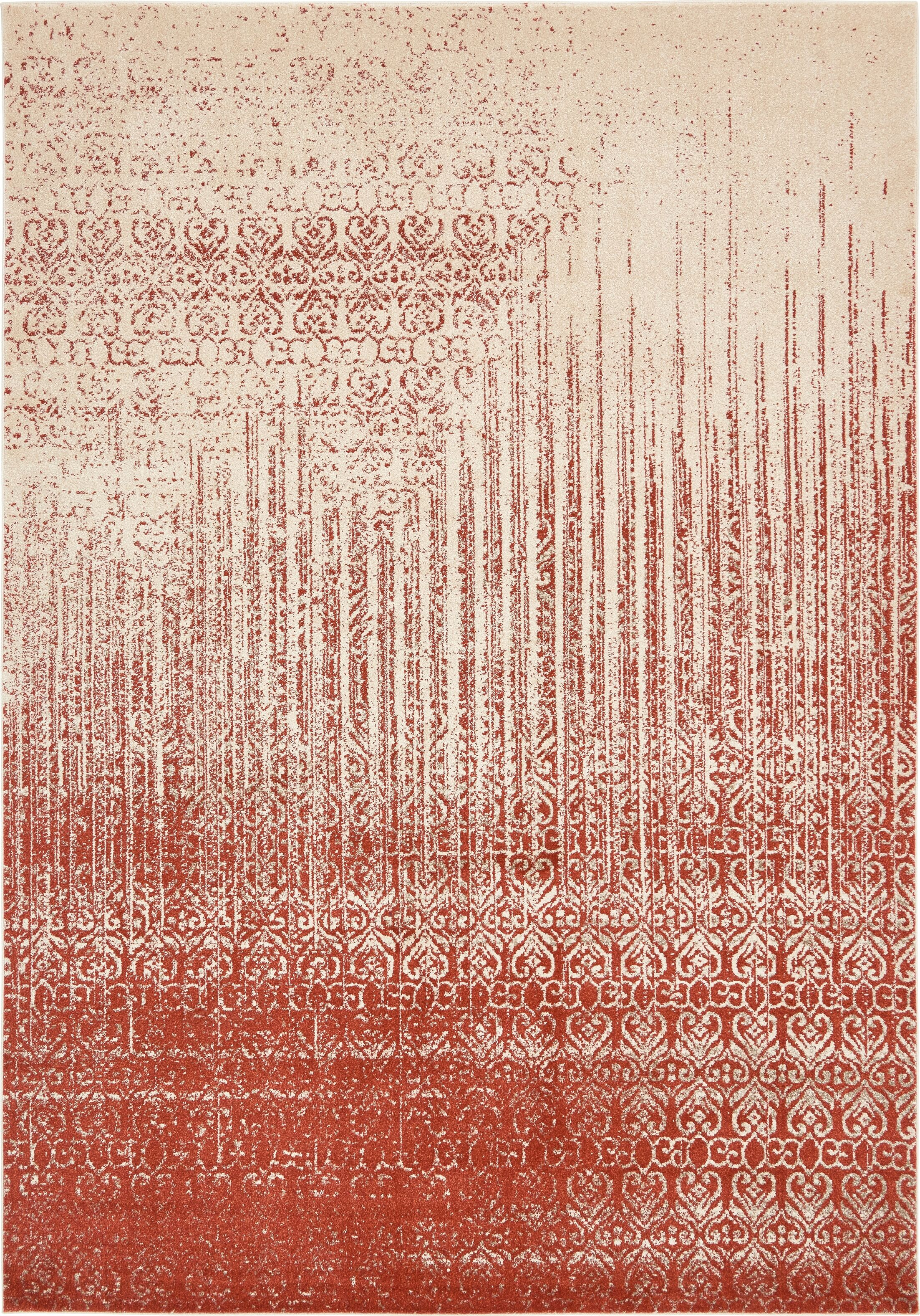 Dungan Red Area Rug Rug Size: Rectangle 8' x 11'4