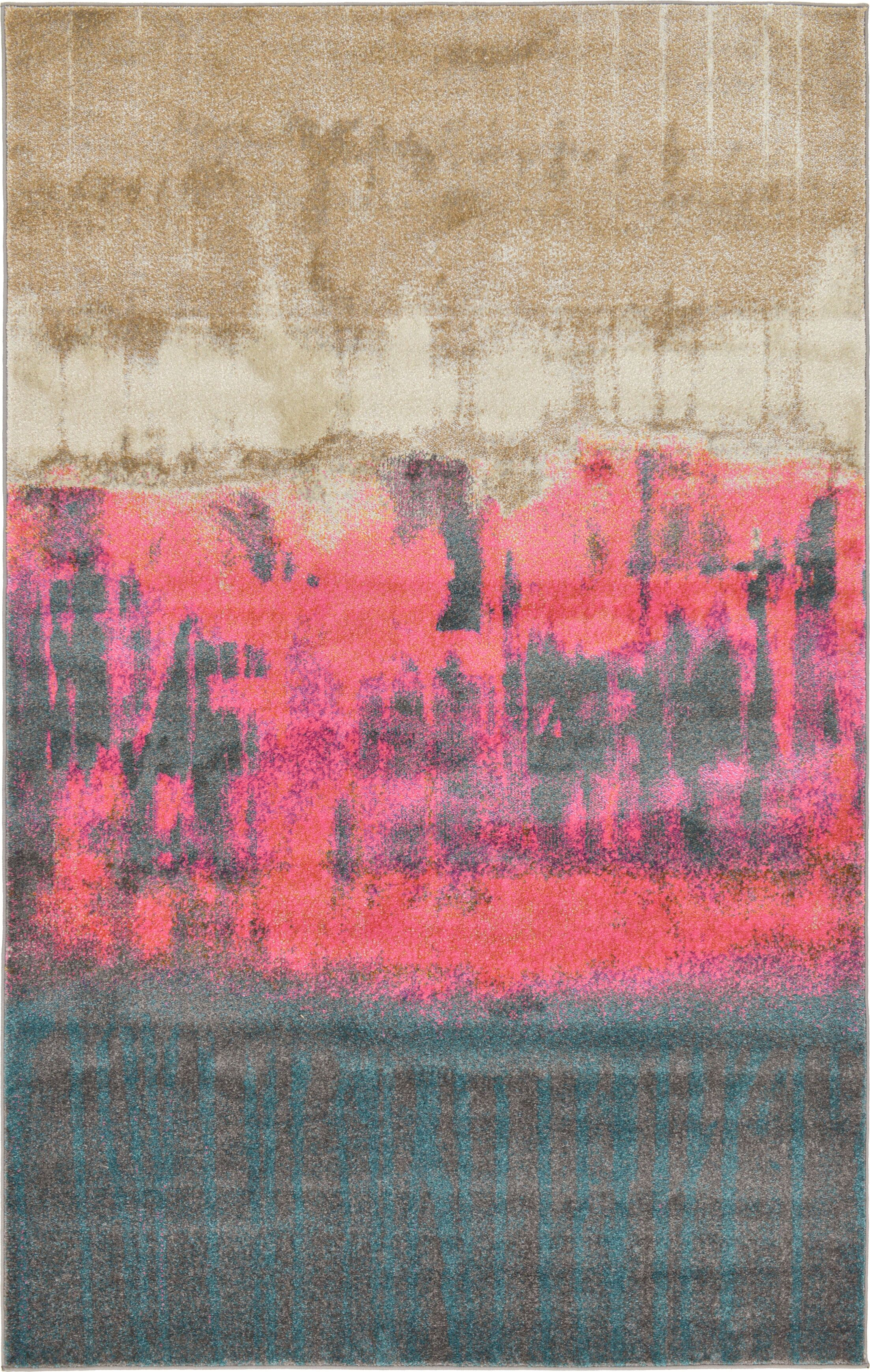Coakley Traditional Pink Area Rug Rug Size: Rectangle 5' x 8'