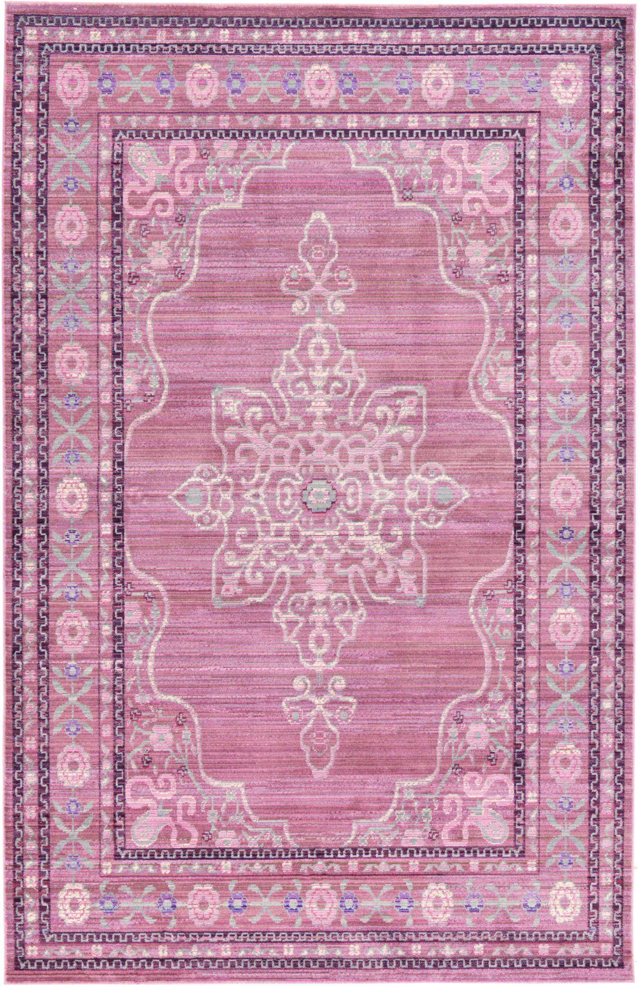 Bradford Pink Area Rug Rug Size: Rectangle 5' x 8'