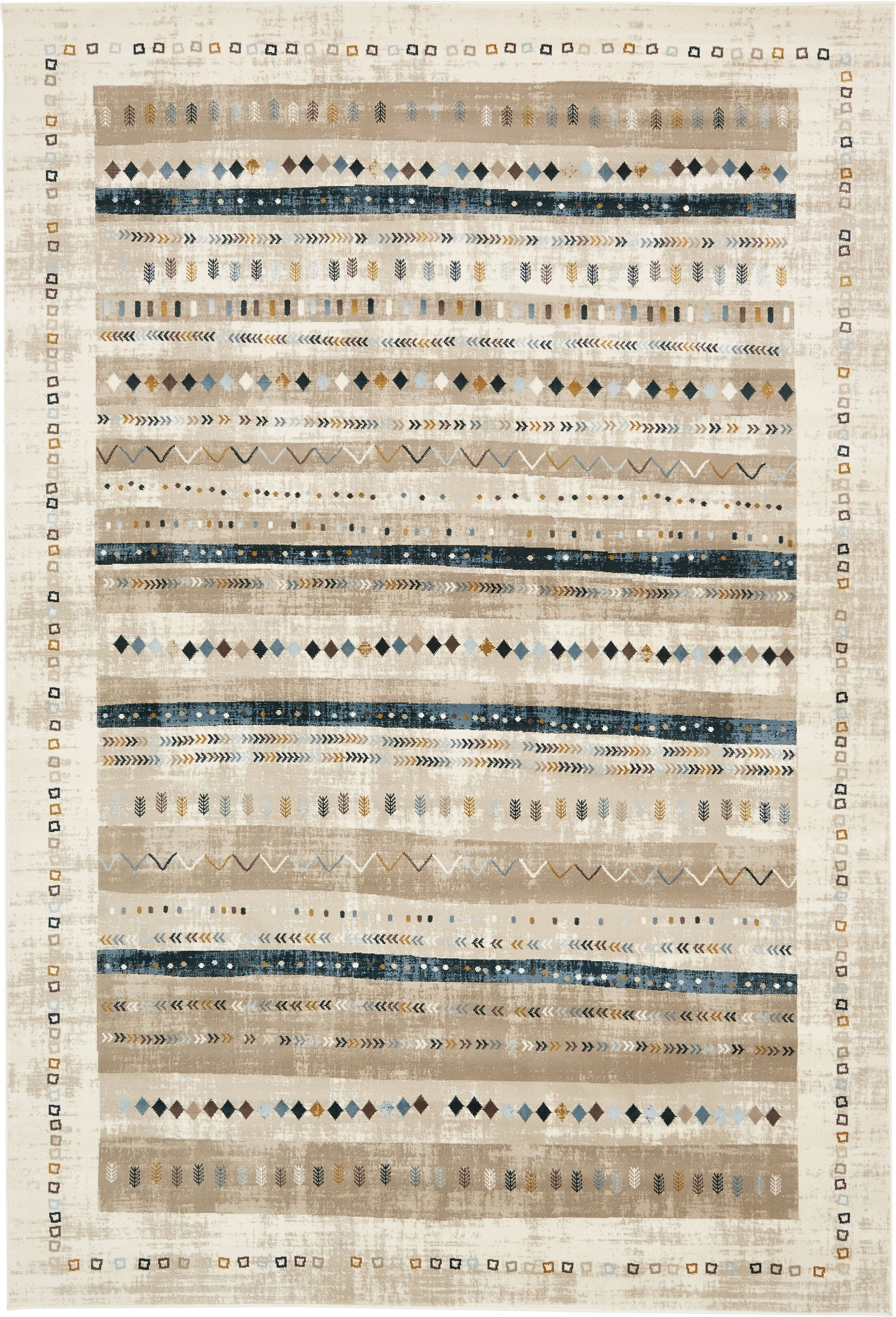 Francis Beige Area Rug Rug Size: Rectangle 7' x 10'