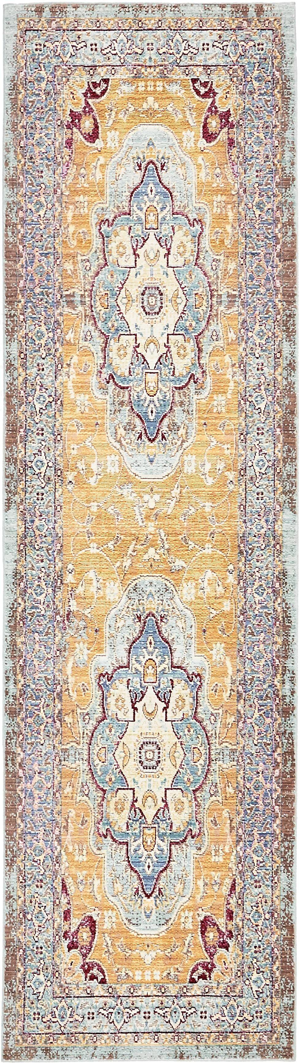 Carrico Light Blue Area Rug Rug Size: Runner 2'7