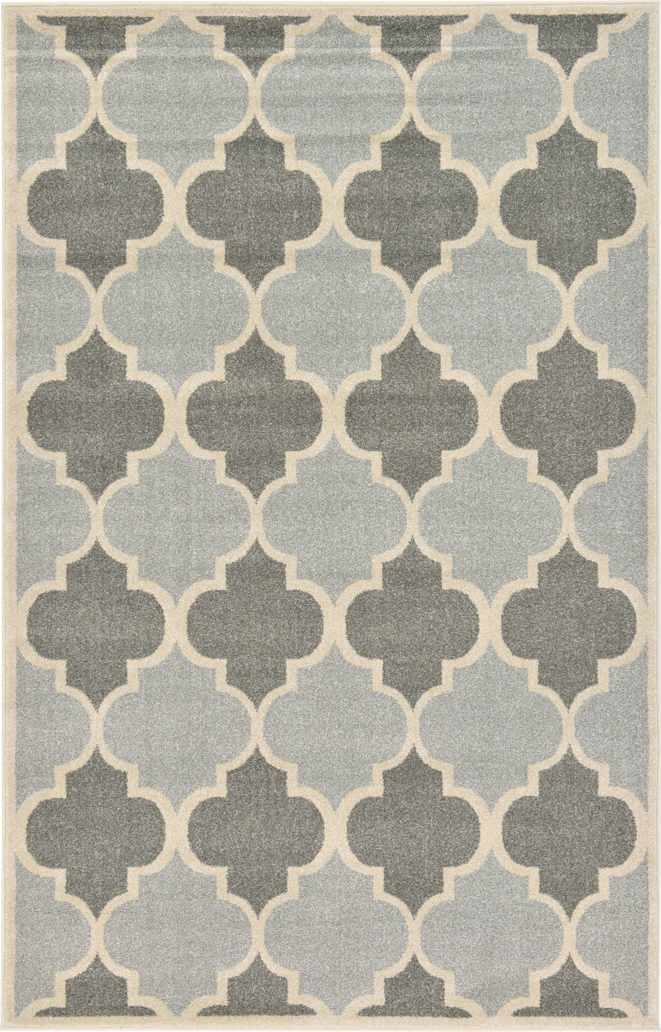 Moore Silver Area Rug Rug Size: Rectangle 5' x 8'