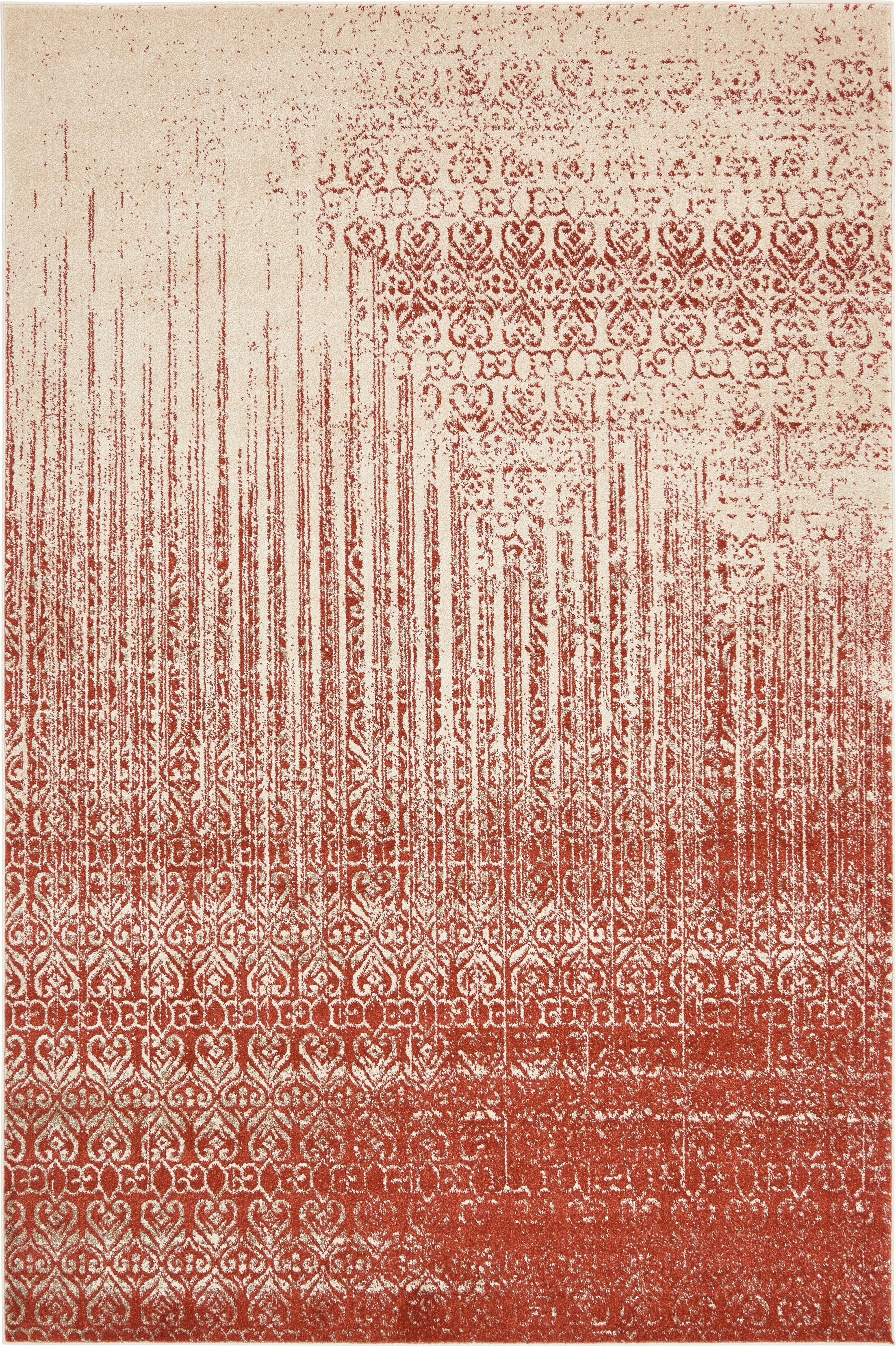 Dungan Red Area Rug Rug Size: Rectangle 6' x 9'