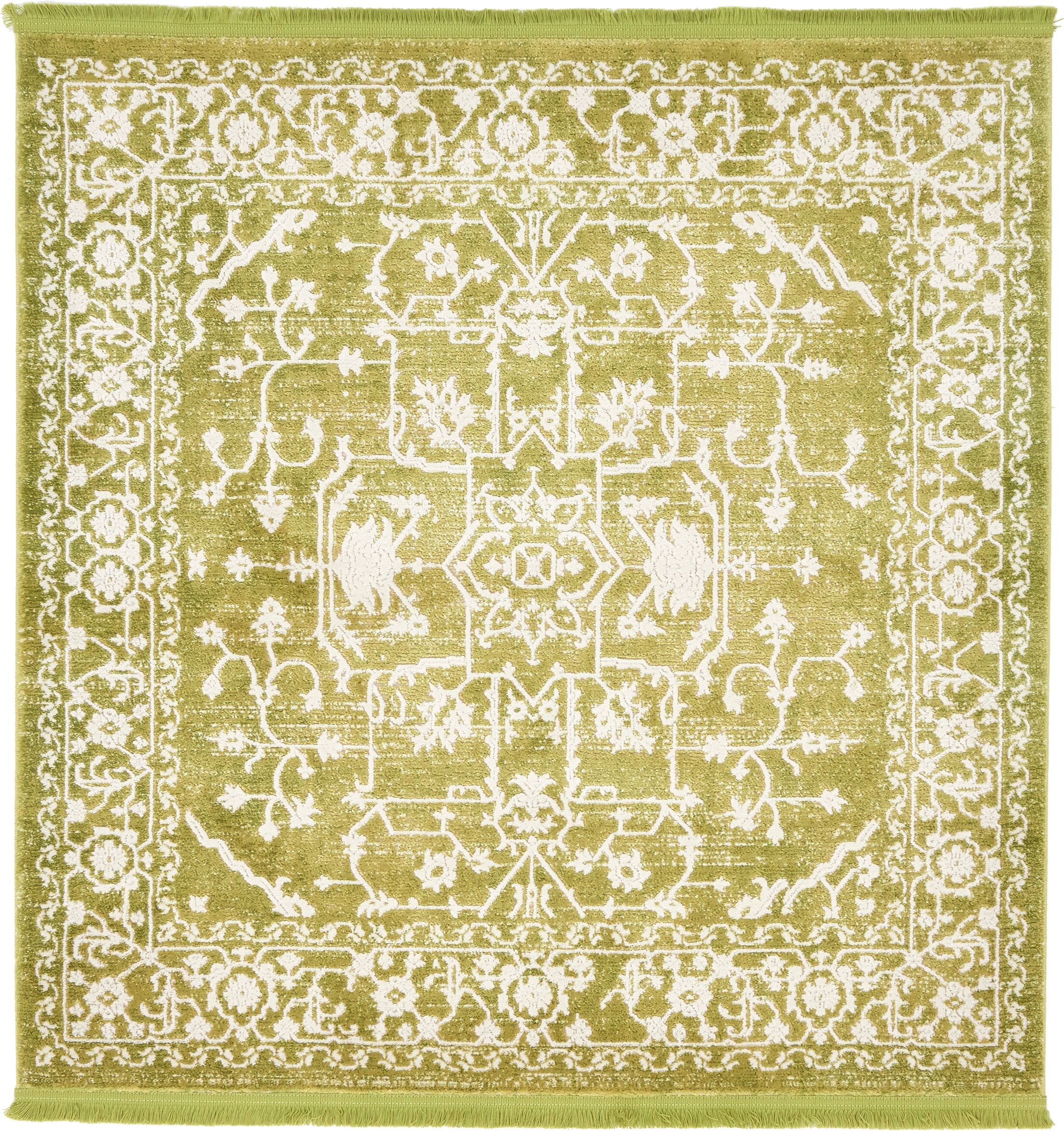 Bryant Tibetan Light Green Area Rug Rug Size: Square 4'