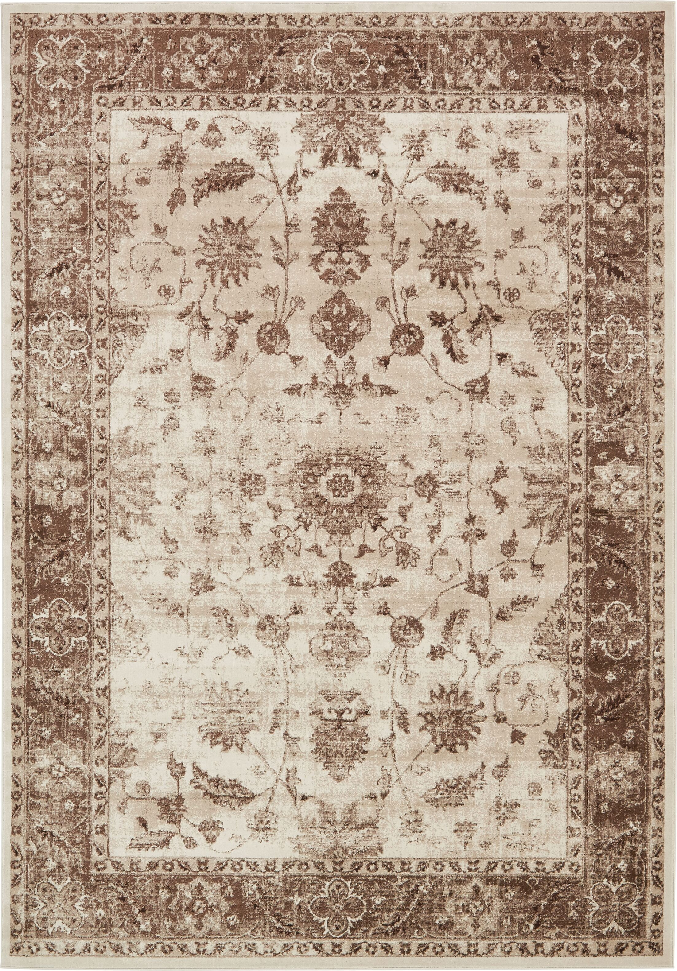 Mathieu Cream/Beige/Brown Area Rug Rug Size: Rectangle 8' x 11'6