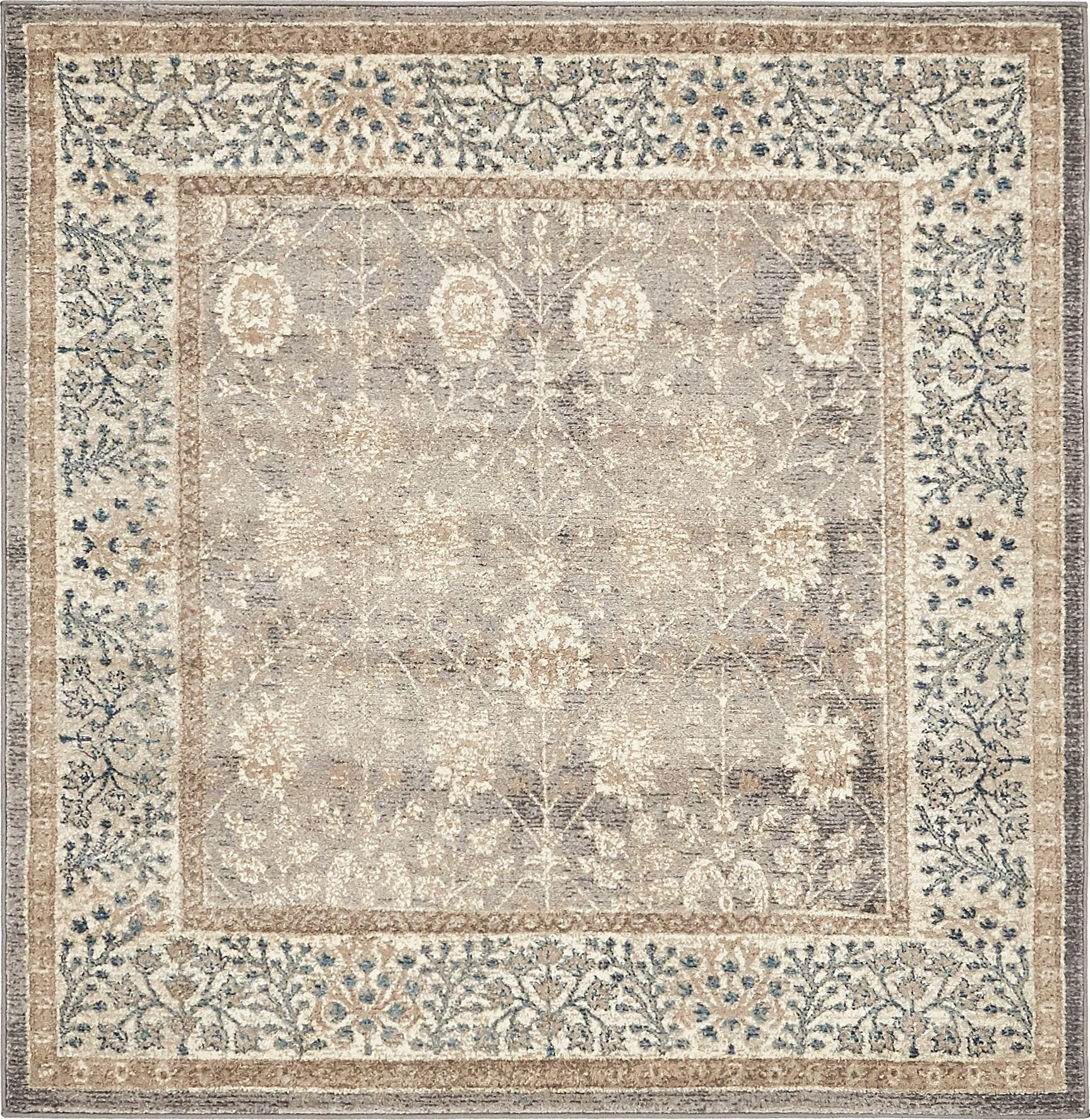 KerensaGray Area Rug Rug Size: Square 5'