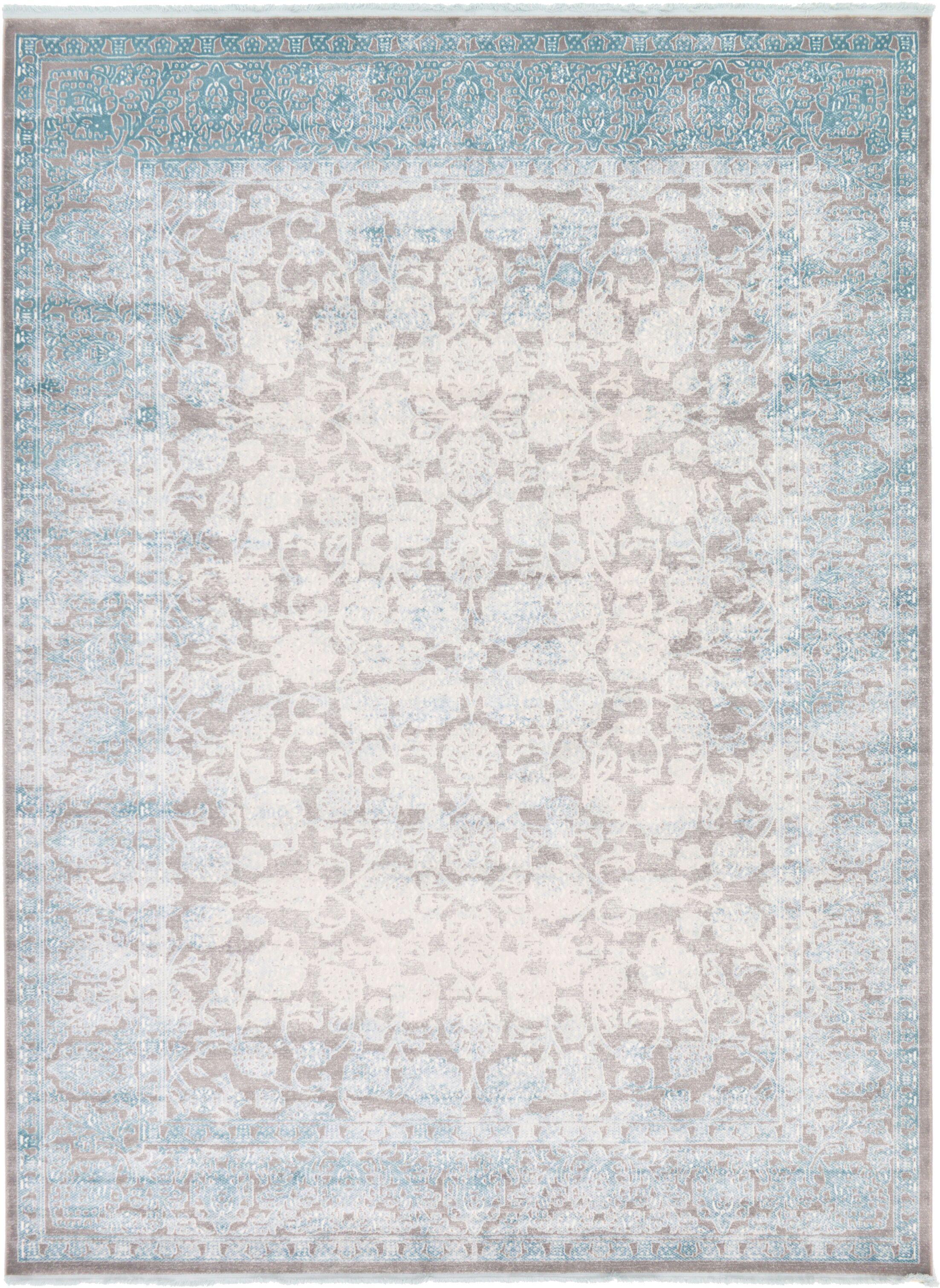 Patenaude Light Gray Oriental Area Rug Rug Size: Rectangle 9' x 12'
