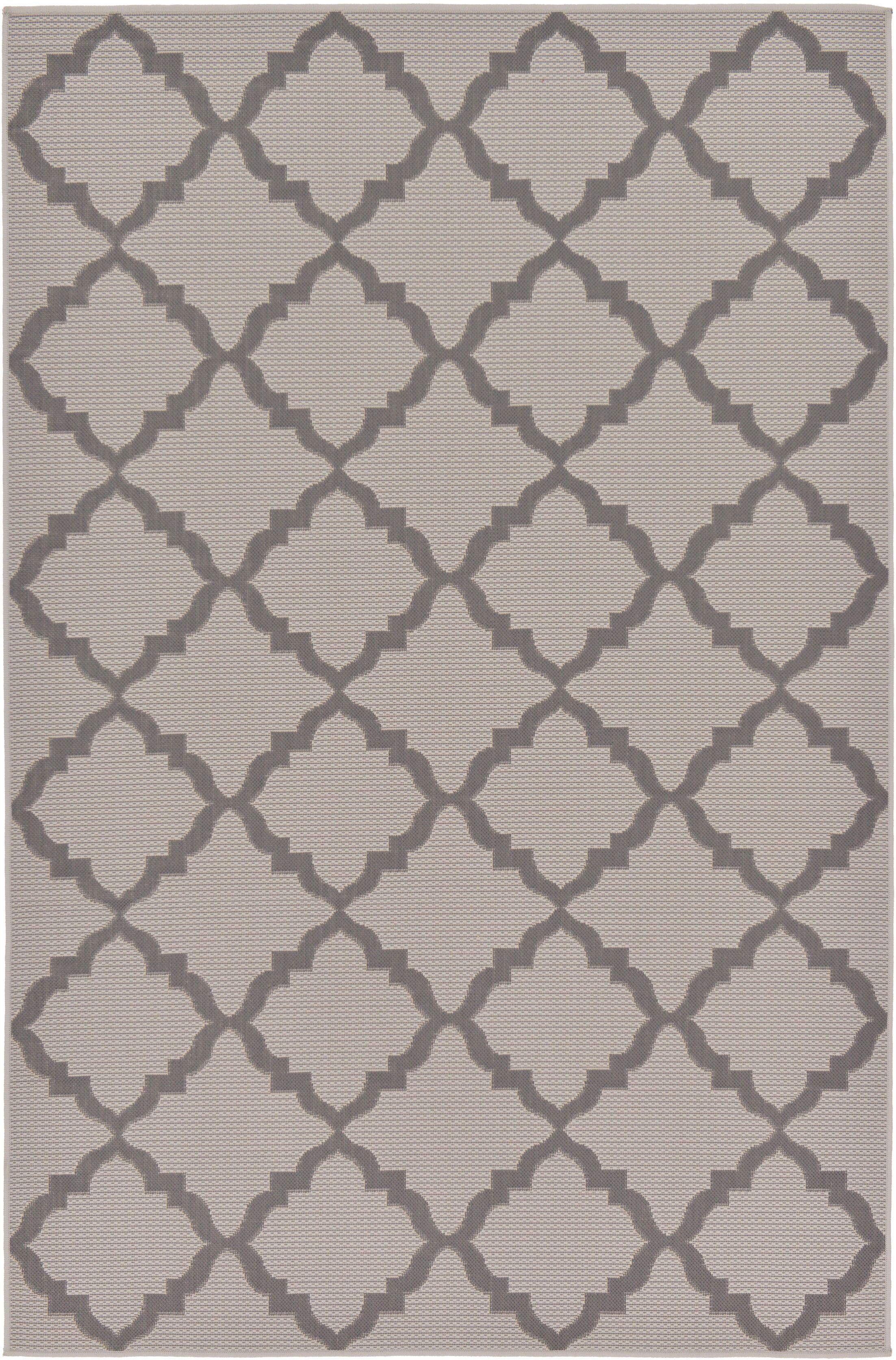 Templepatrick Gray Outdoor Area Rug Rug Size: Rectangle 5'3