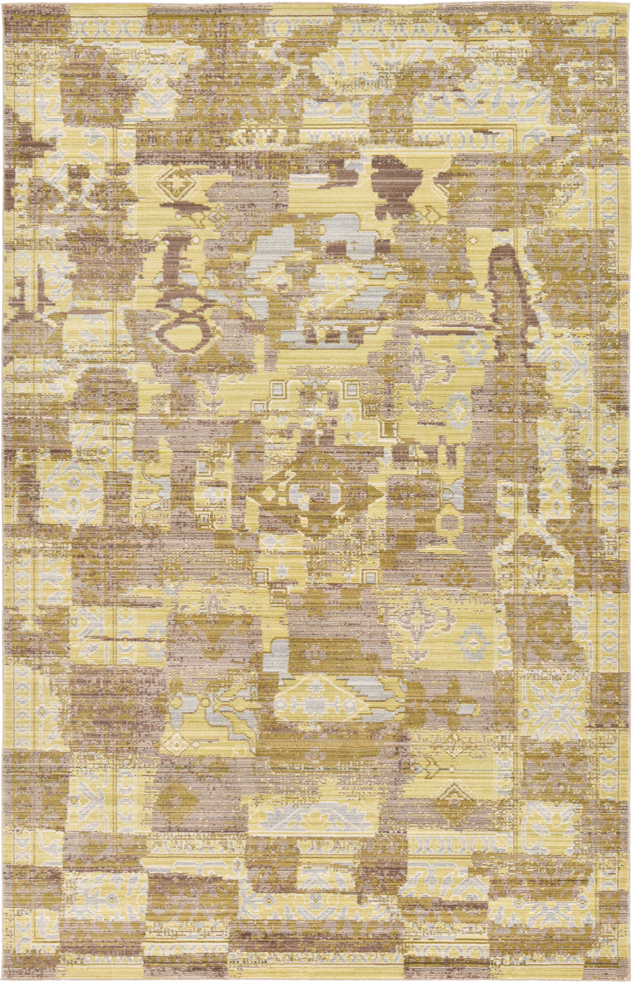 Rune Light Brown Area Rug Rug Size: Rectangle 5' x 8'