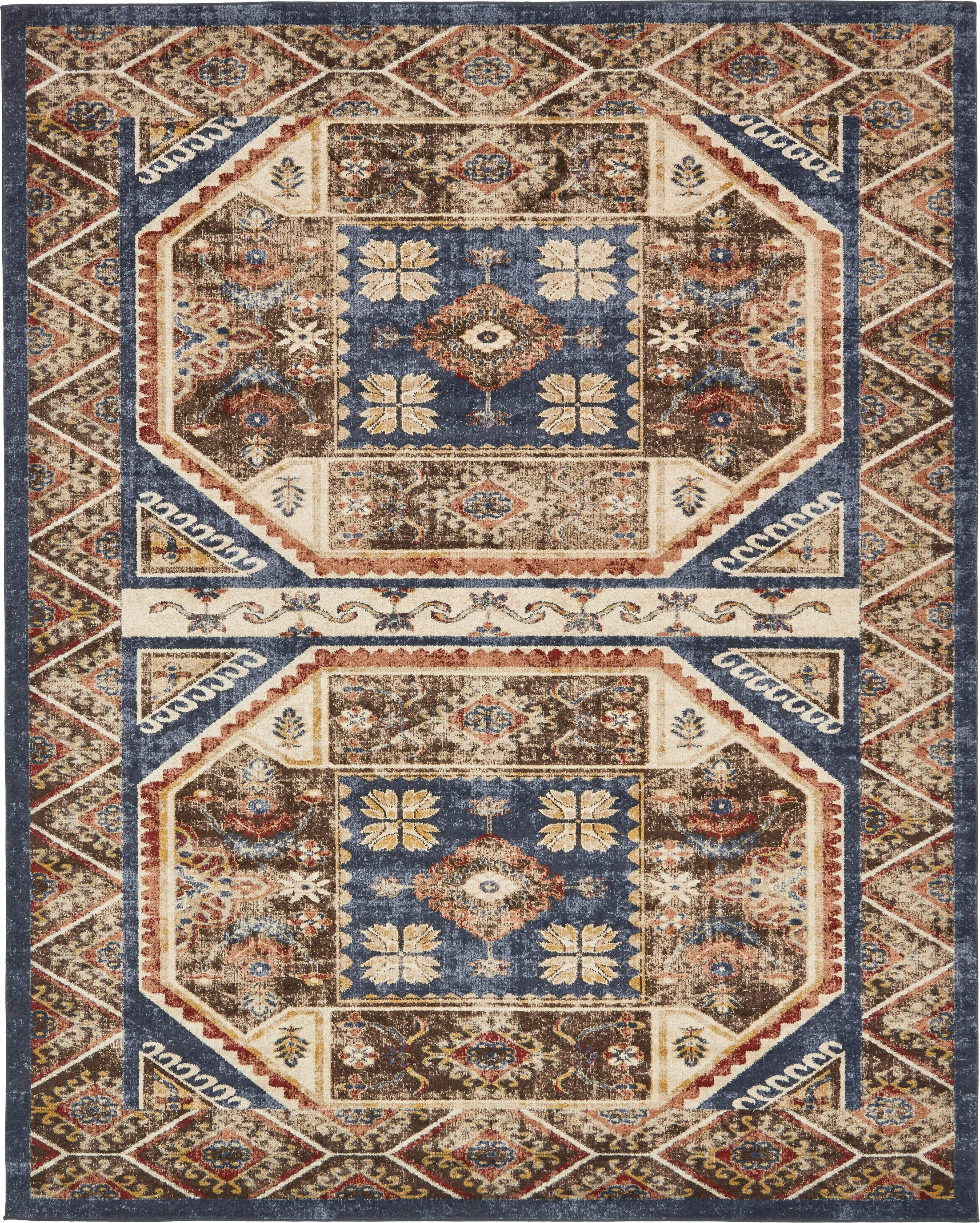 Nathanson Brown Area Rug Rug Size: Rectangle 8' x 10'