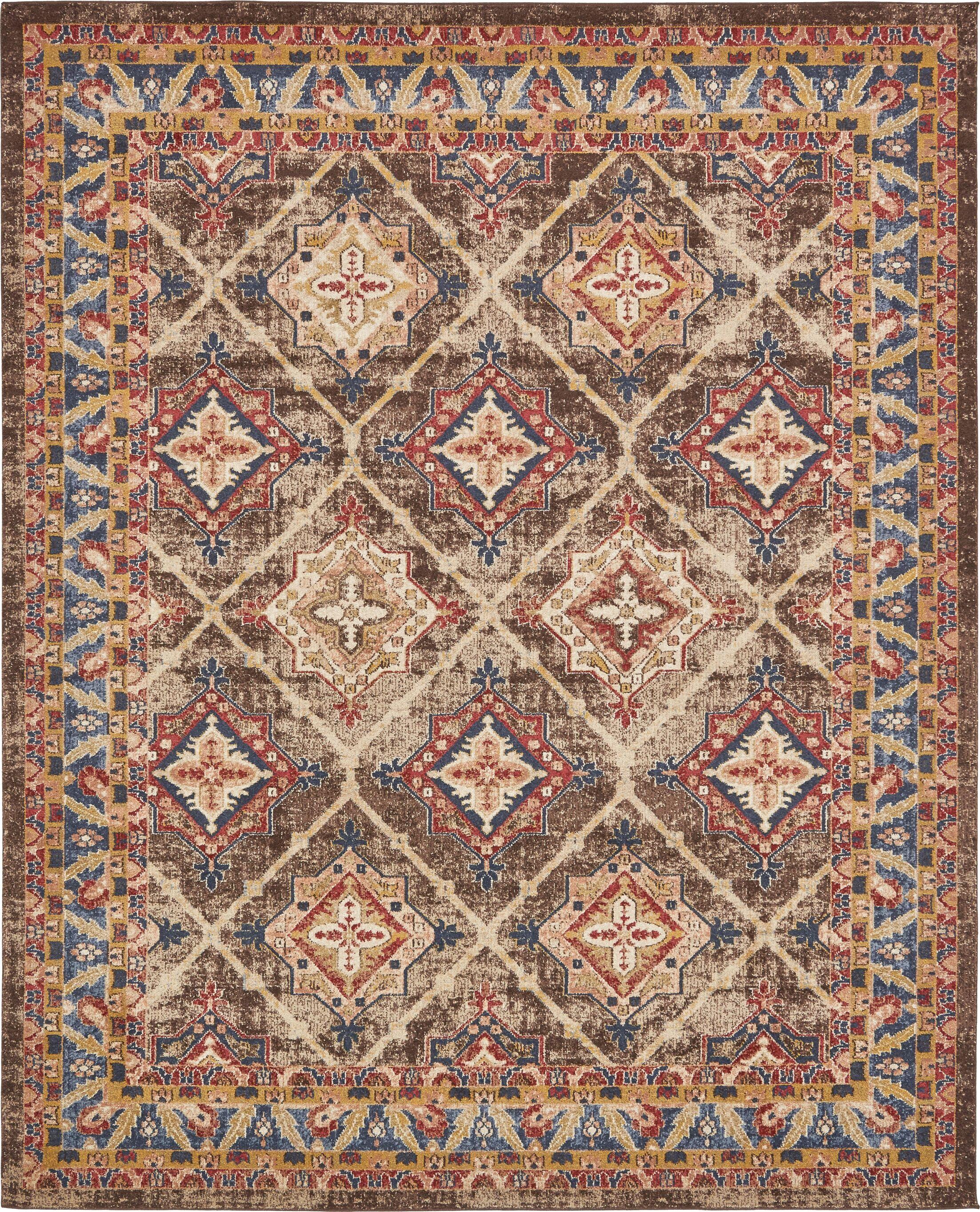 Nathanson Dark Brown Area Rug Rug Size: Rectangle 8' x 10'