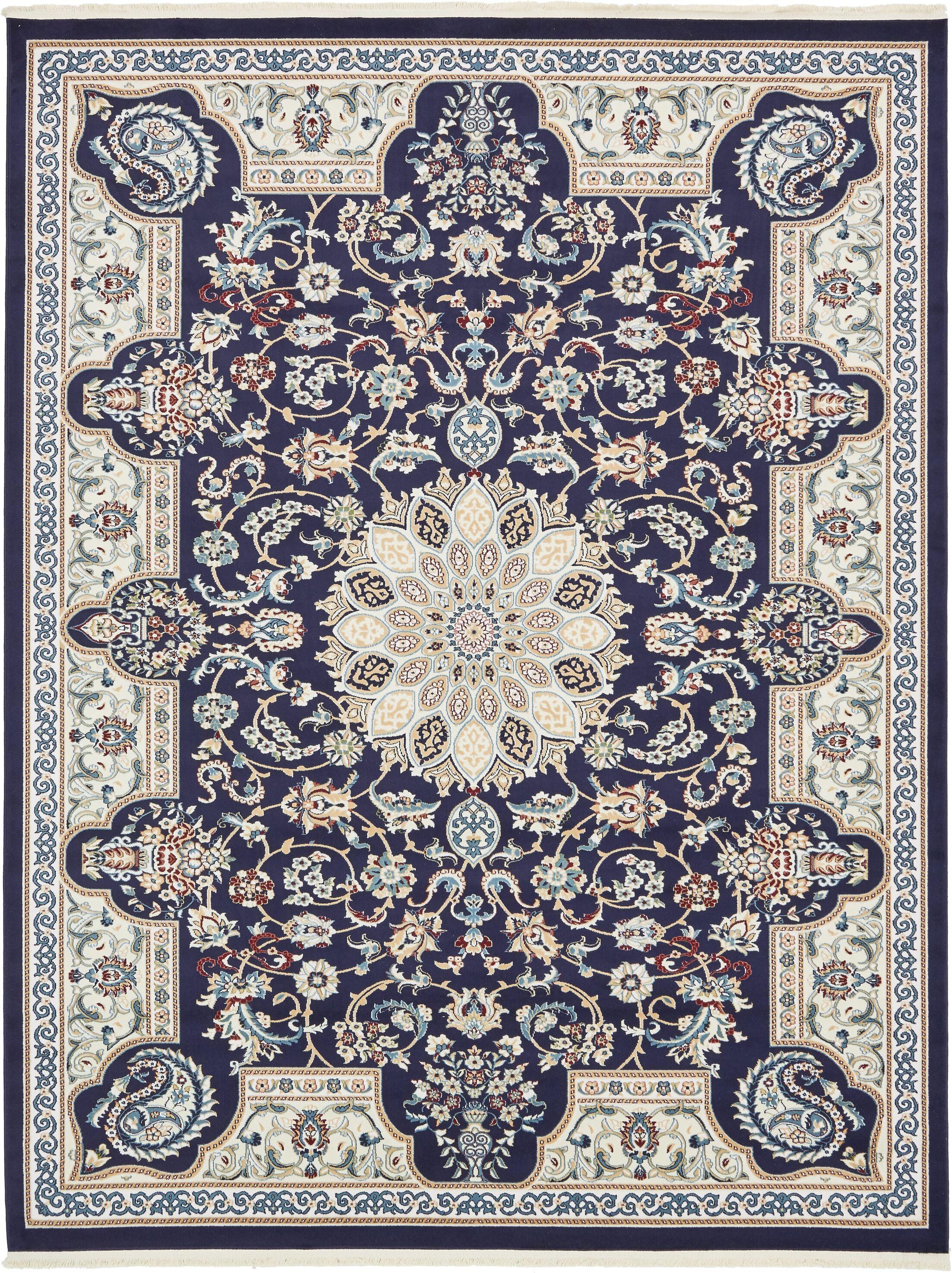 Jackson Navy Blue Area Rug Rug Size: Rectangle 8' x 10'