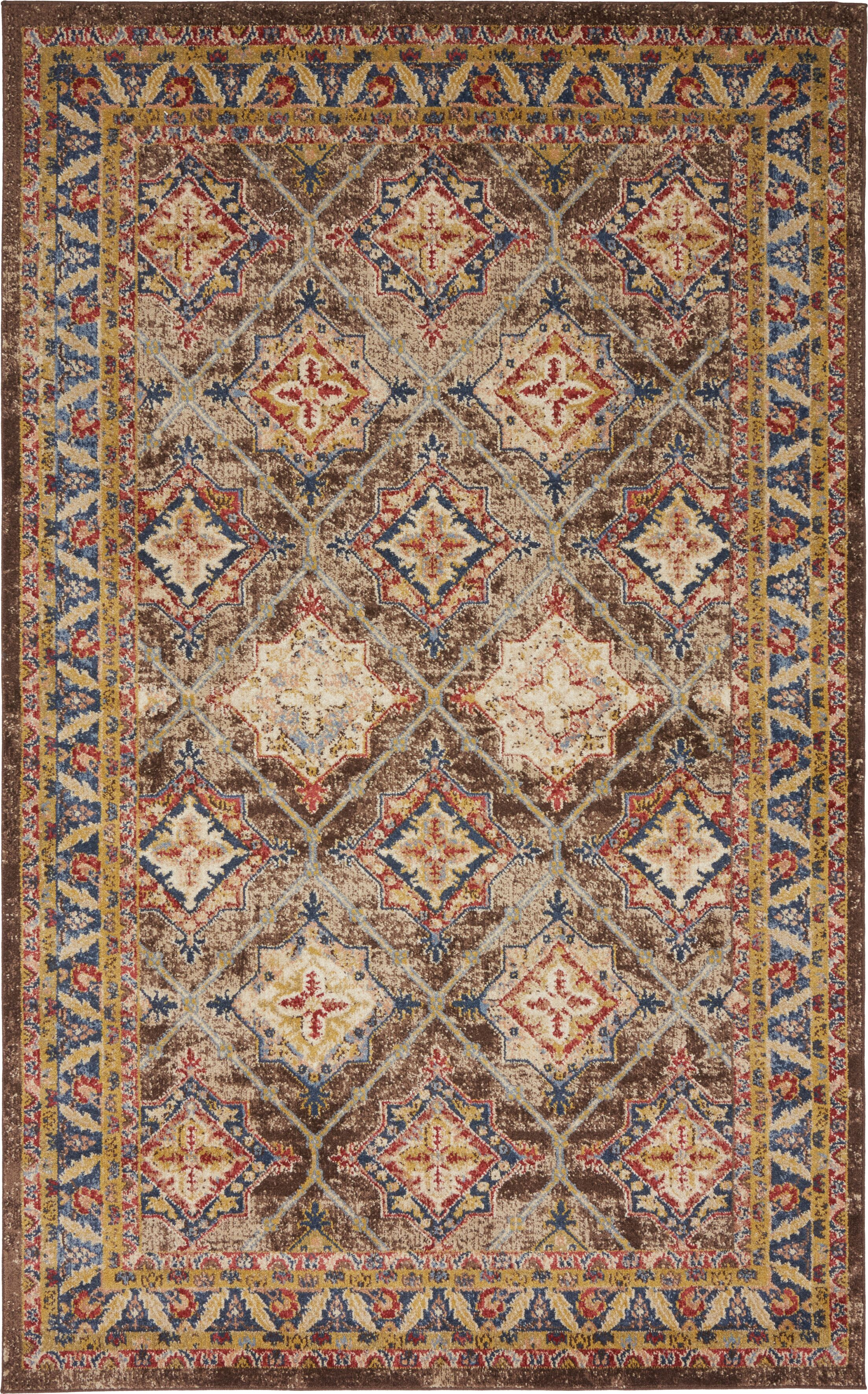 Nathanson Dark Brown Area Rug Rug Size: Rectangle 5' x 8'