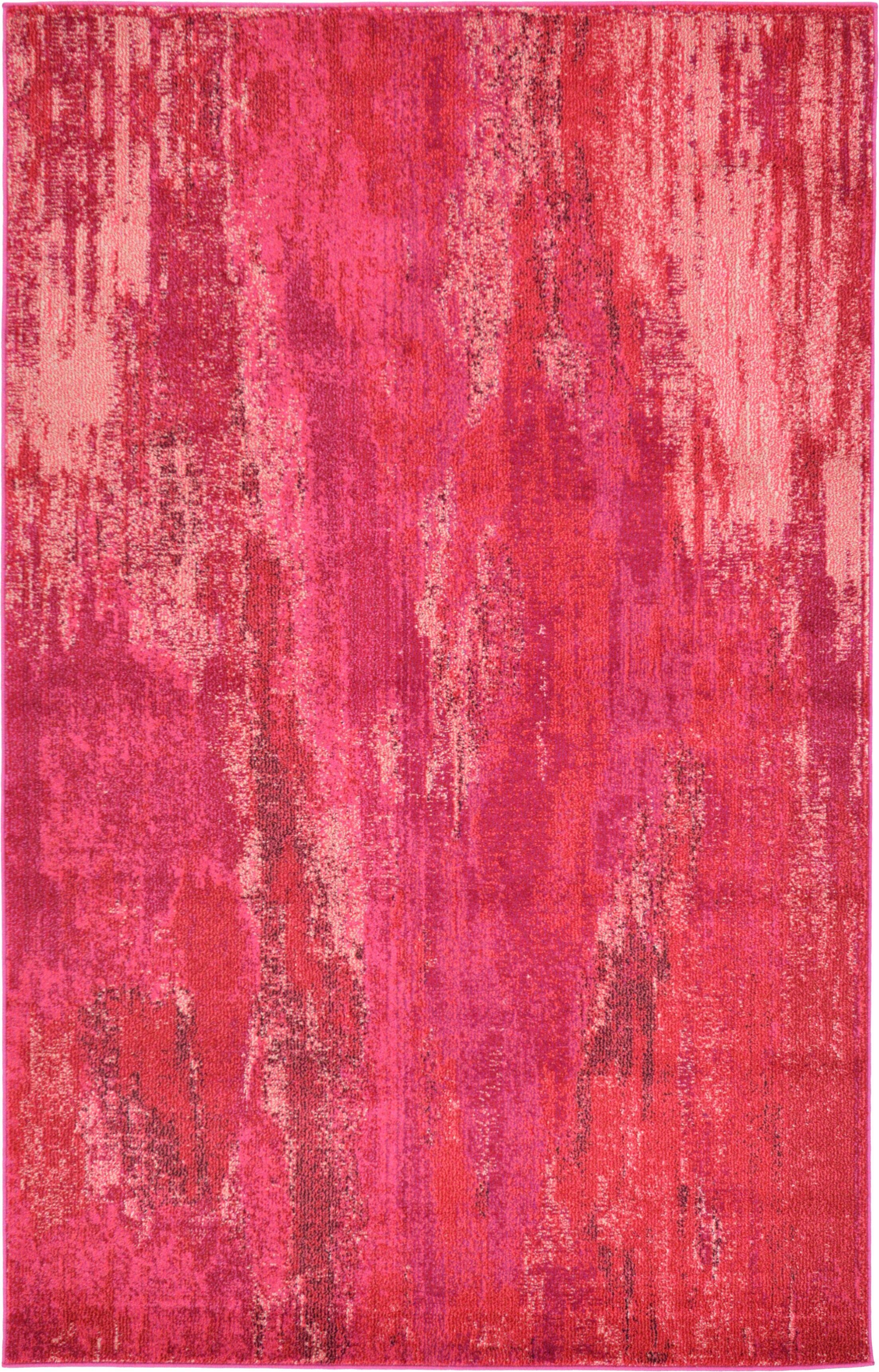 Killington Pink Area Rug Rug Size: Rectangle 5' x 8'