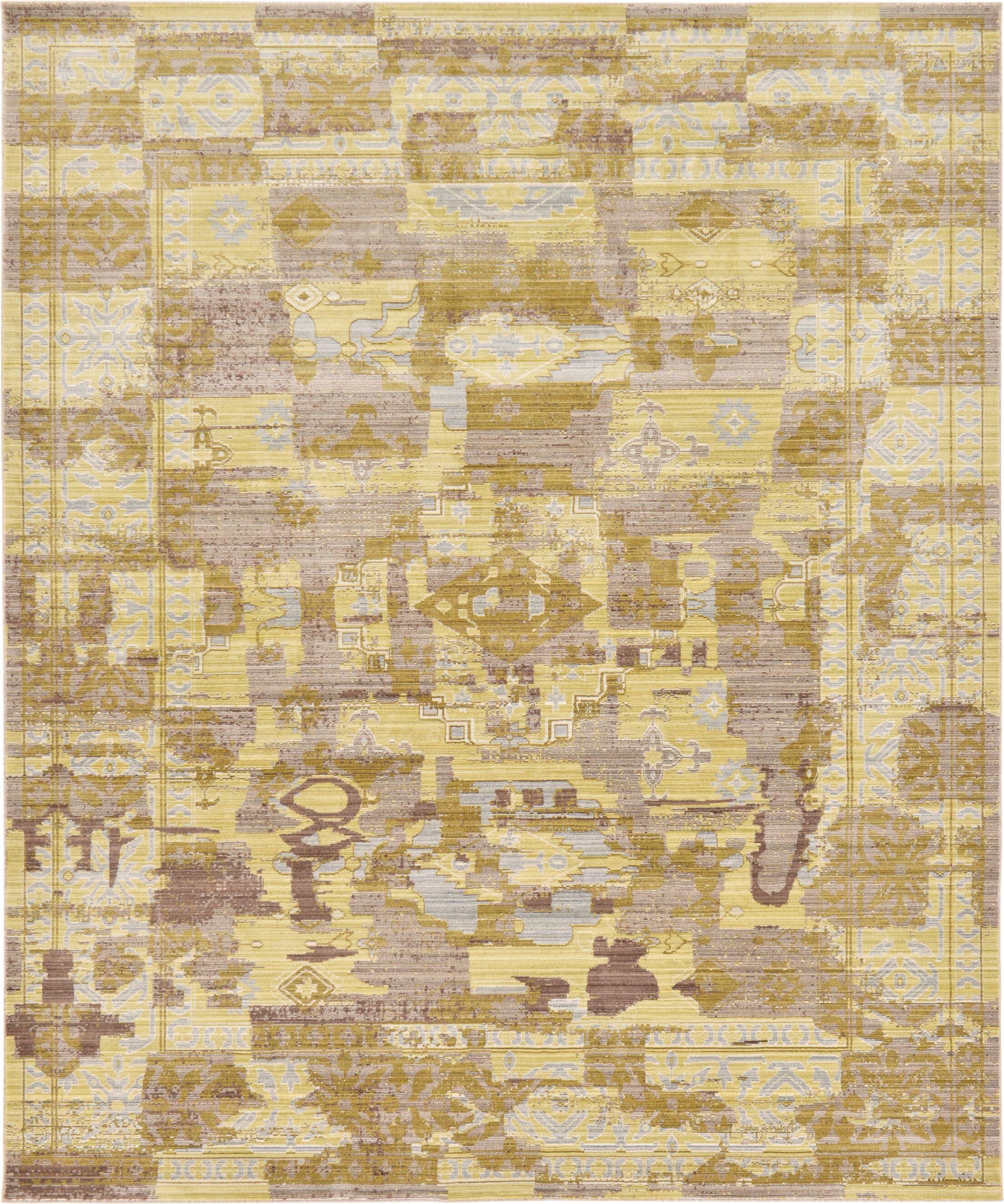Rune Light Brown Area Rug Rug Size: Rectangle 8' x 10'