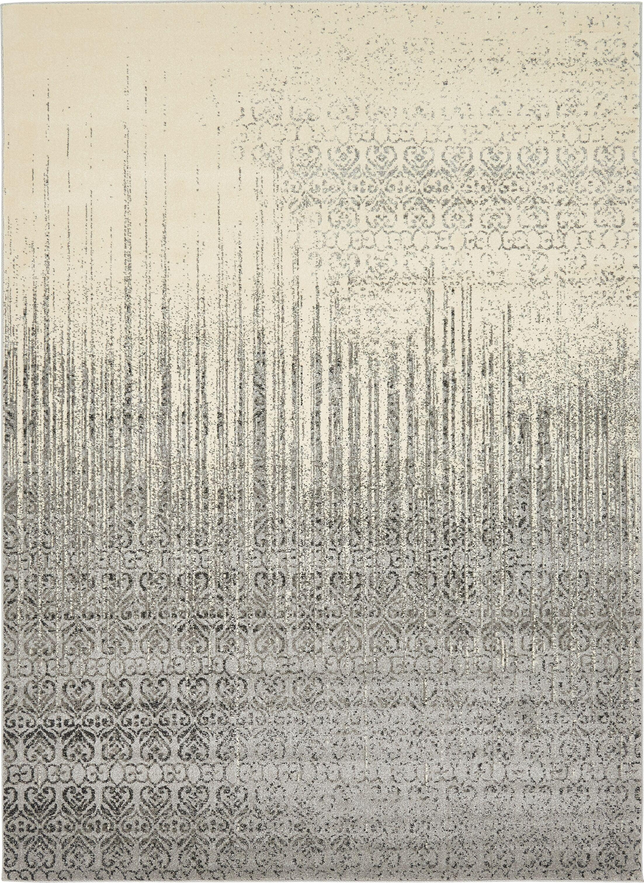 Dungan Gray Area Rug Rug Size: Rectangle 8' x 11'