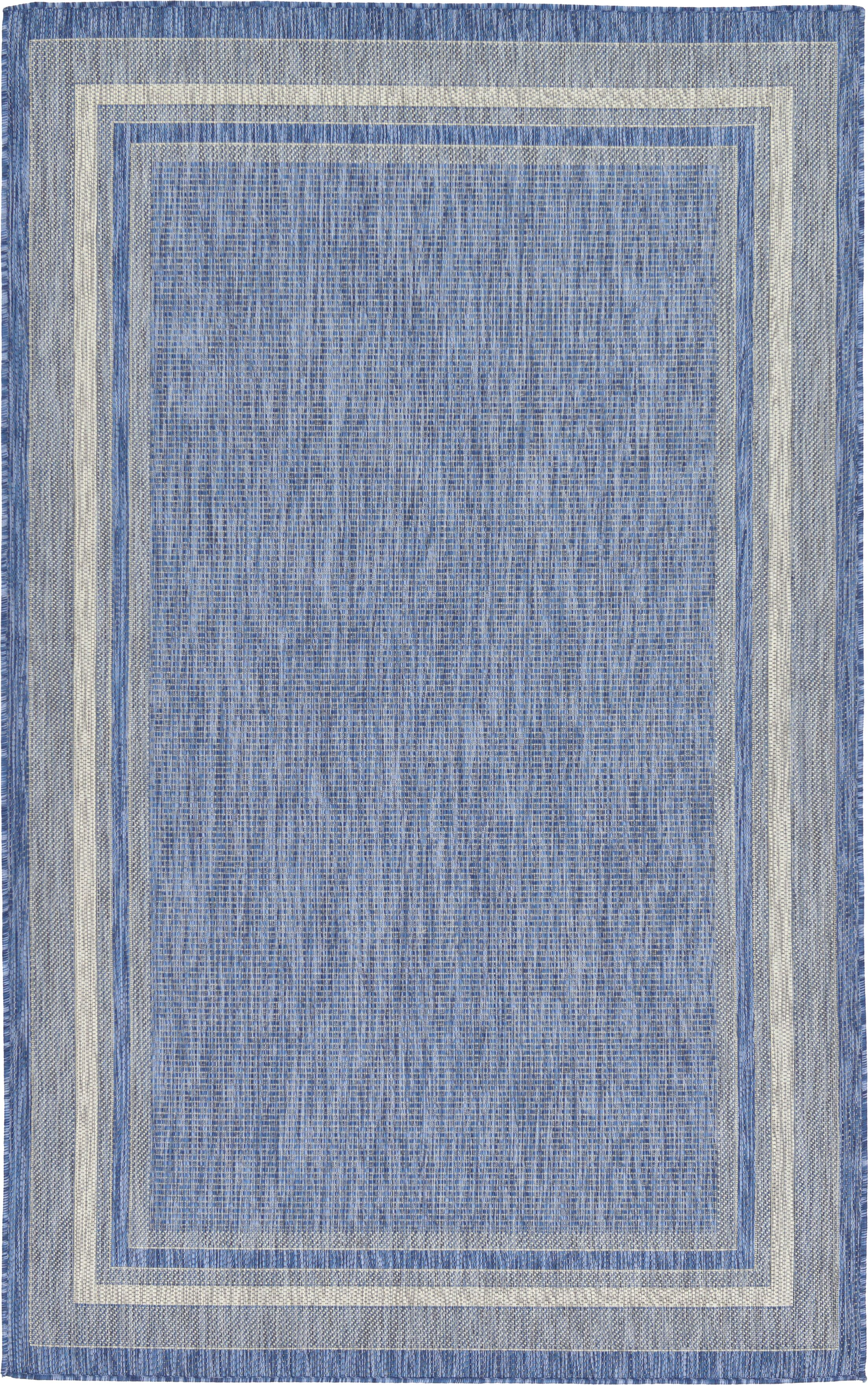 Roellig Blue Outdoor Area Rug Rug Size: Rectangle 5' x 8'