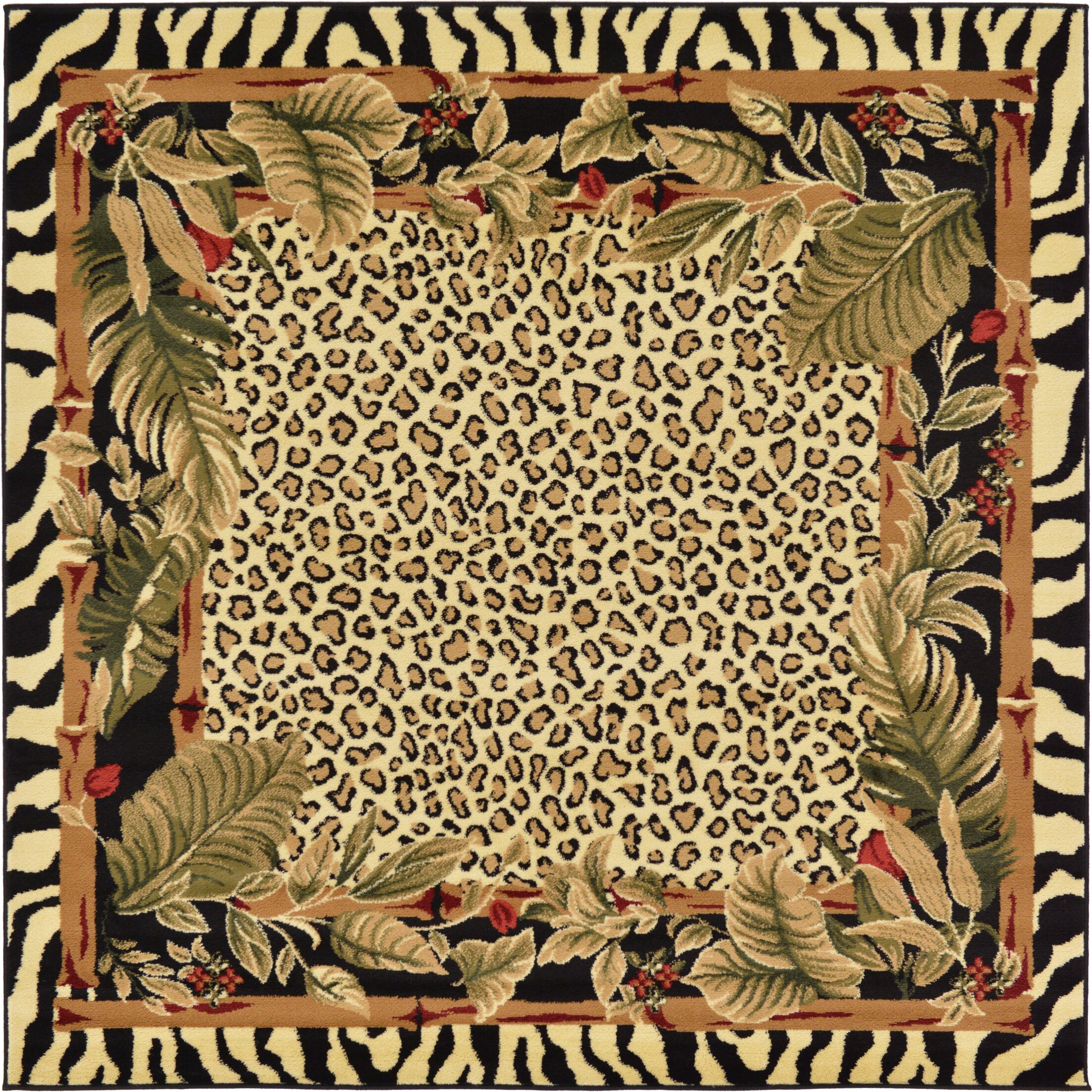 Leif Tan/Olive Area Rug Rug Size: Square 6'
