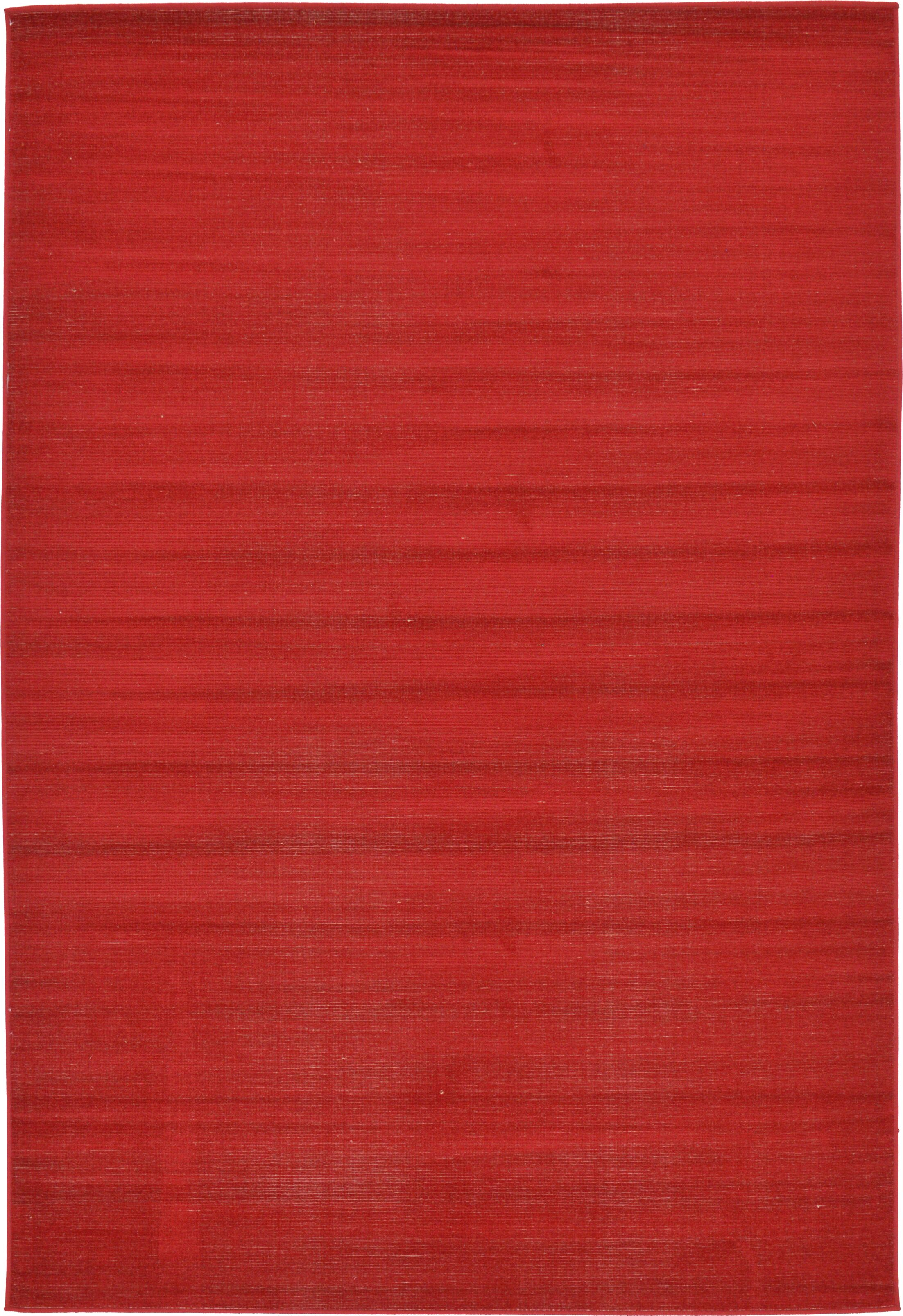 Risley Red Area Rug Rug Size: Rectangle 6' x 9'