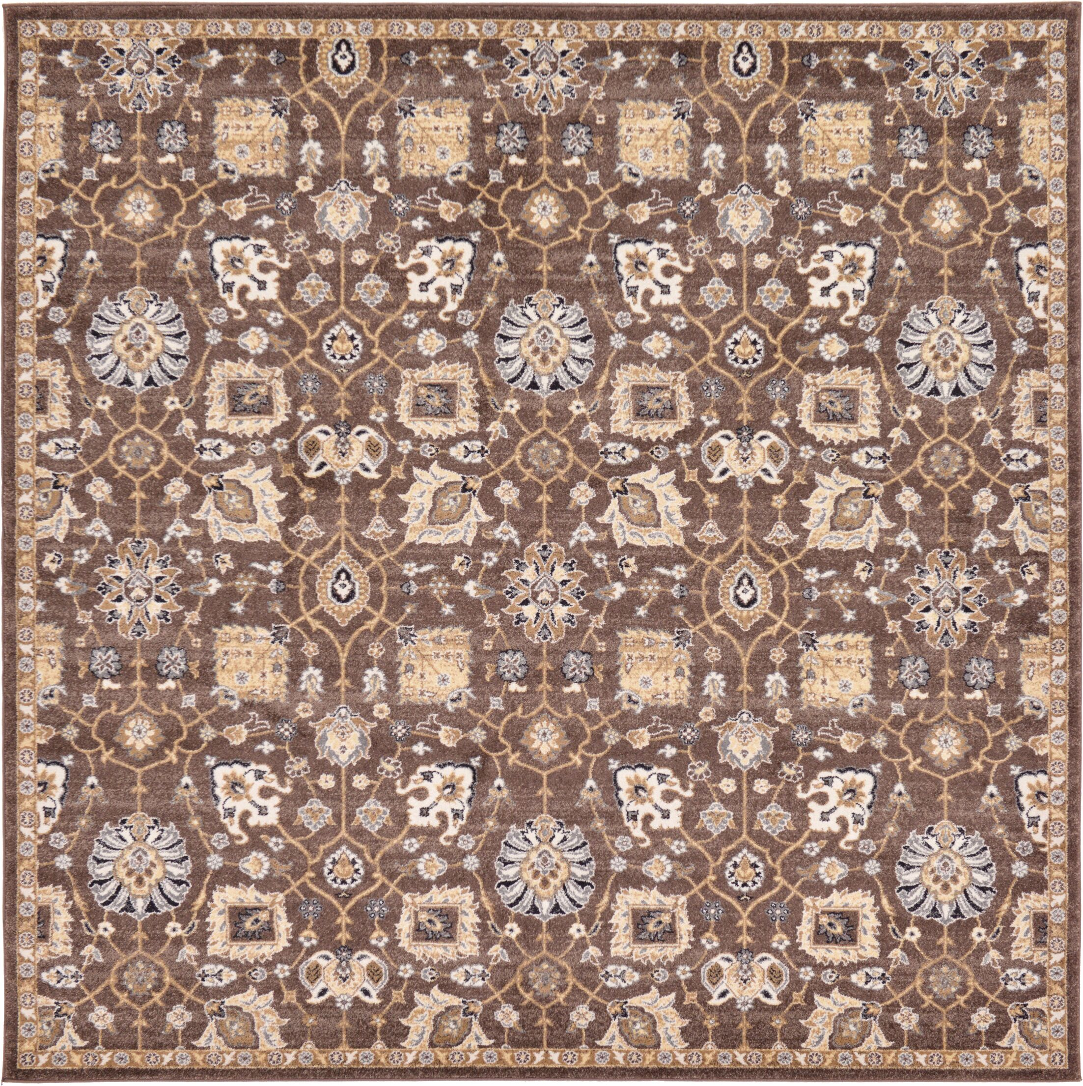 Peter Tradition Brown Area Rug Rug Size: Square 8'4