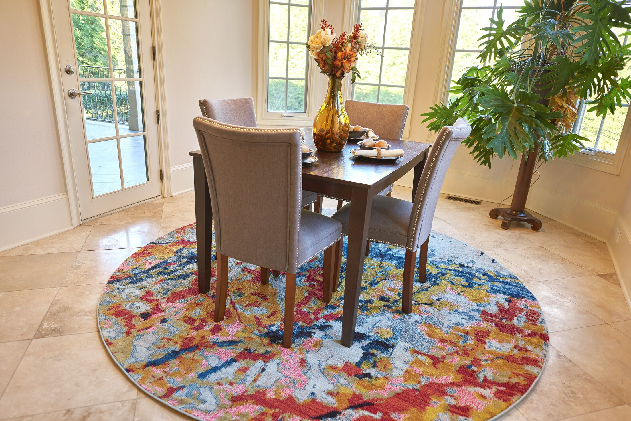 Brister Light Blue Area Rug Rug Size: Rectangle 10'6