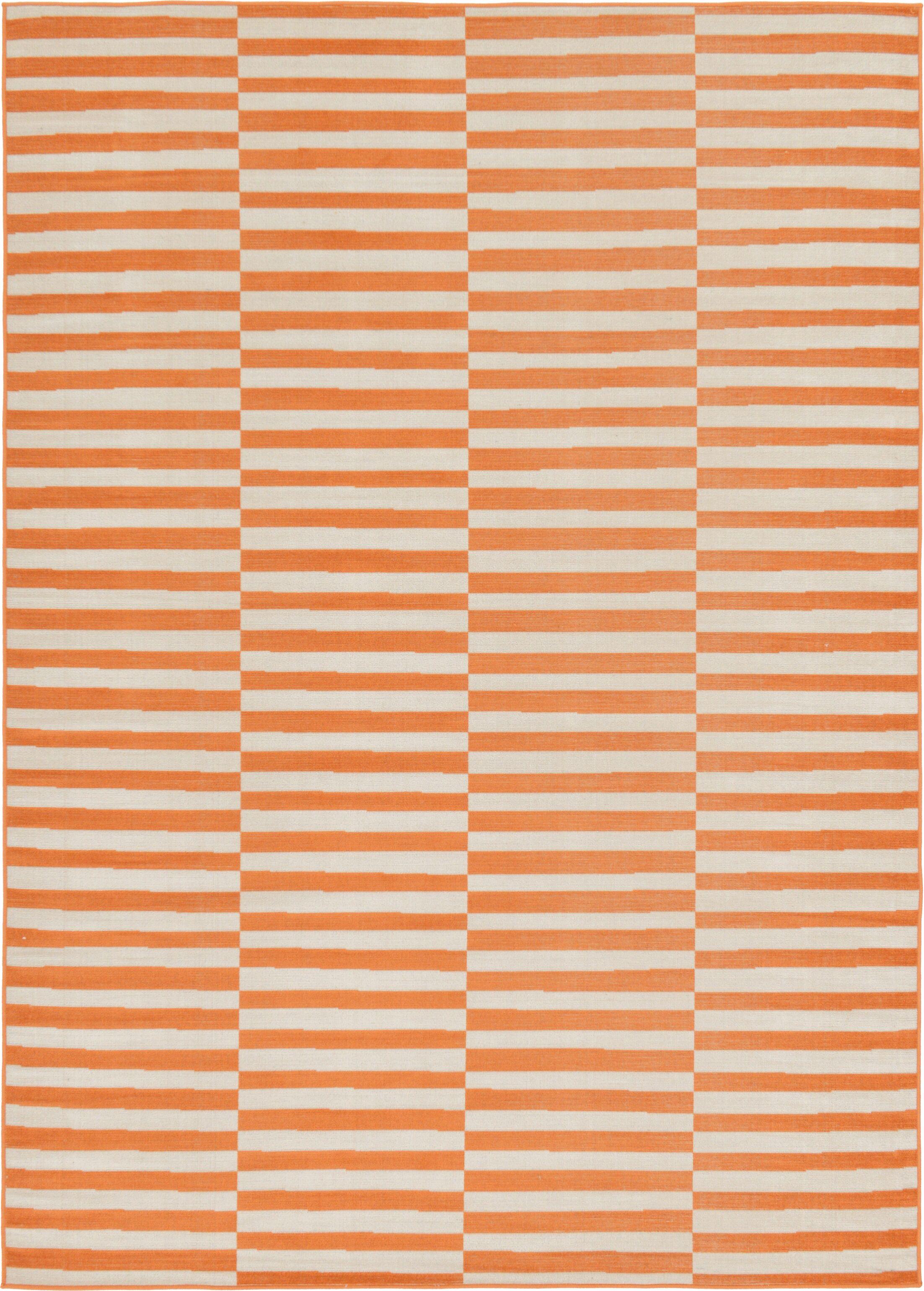 Jace Orange Area Rug Rug Size: Rectangle 7' x 10'
