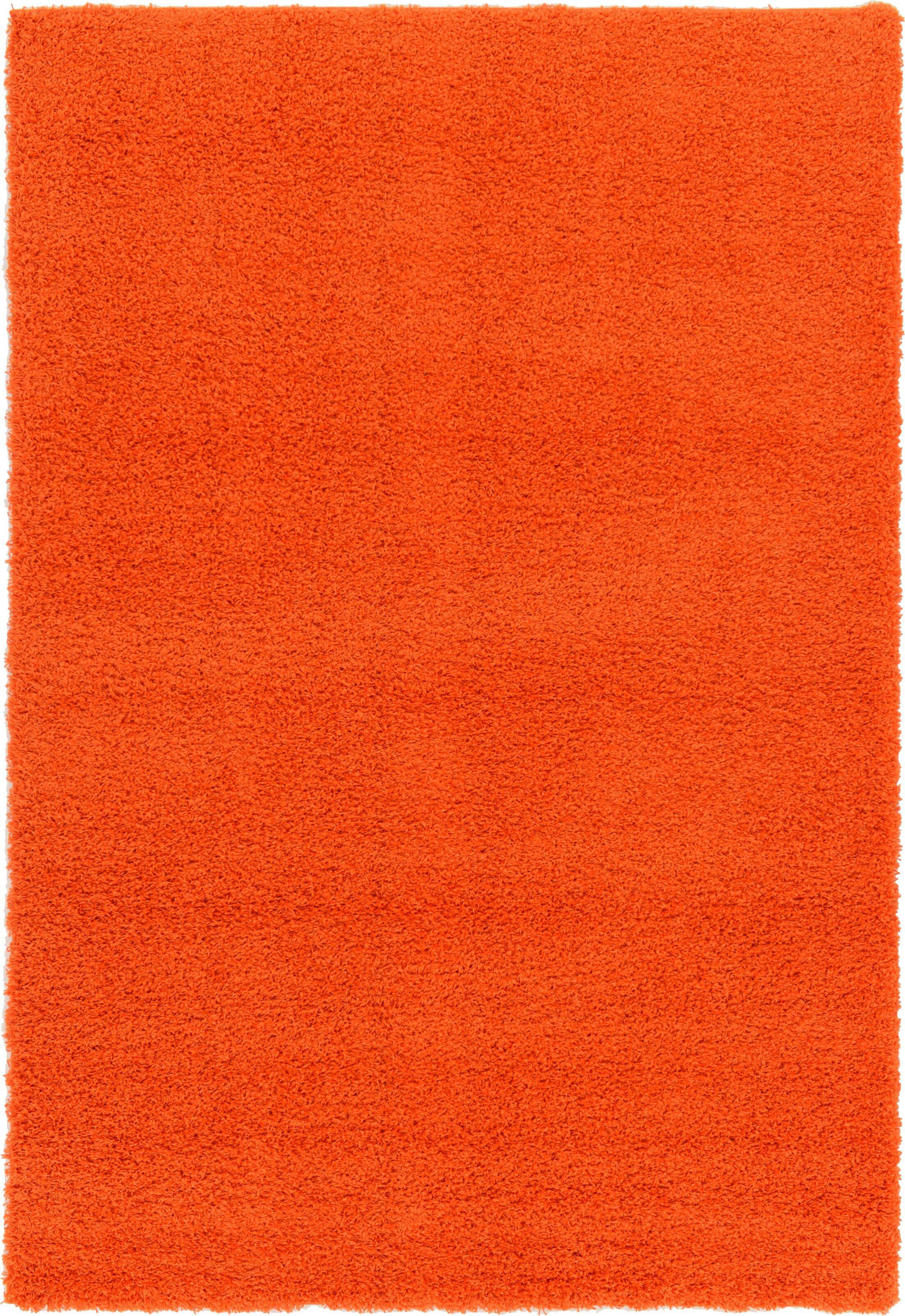 Madison Orange Area Rug Rug Size: Rectangle 6' x 9'