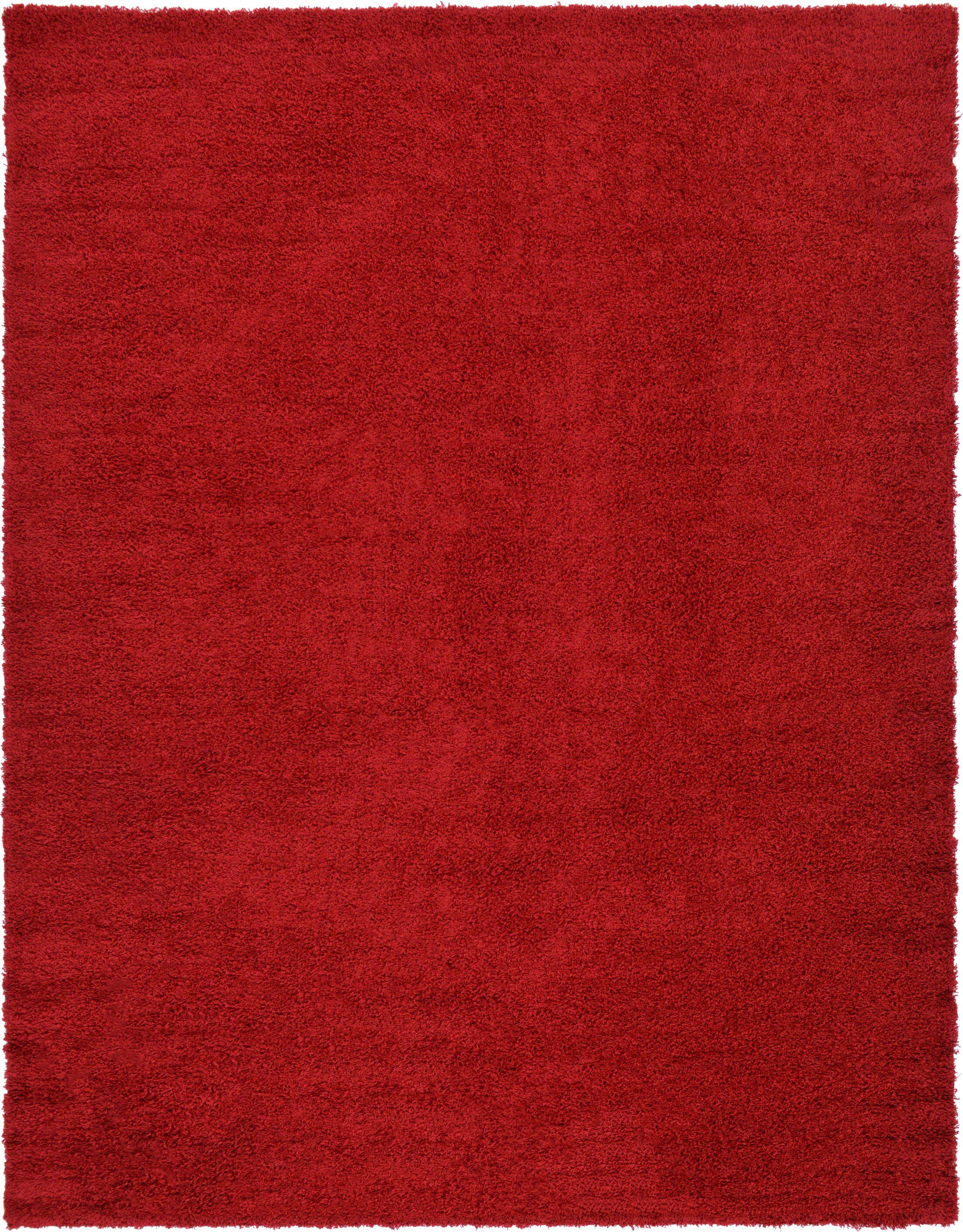 Madison Basic  Cherry Red Area Rug Rug Size: Rectangle 10' x 13'